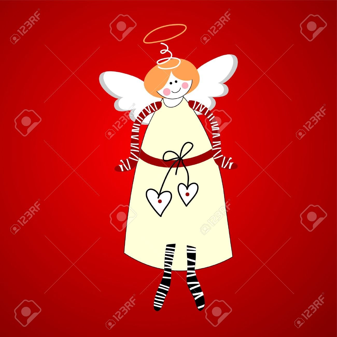 Angel. Symbol of happiness and love. Vector. Stock Vector - 11276546