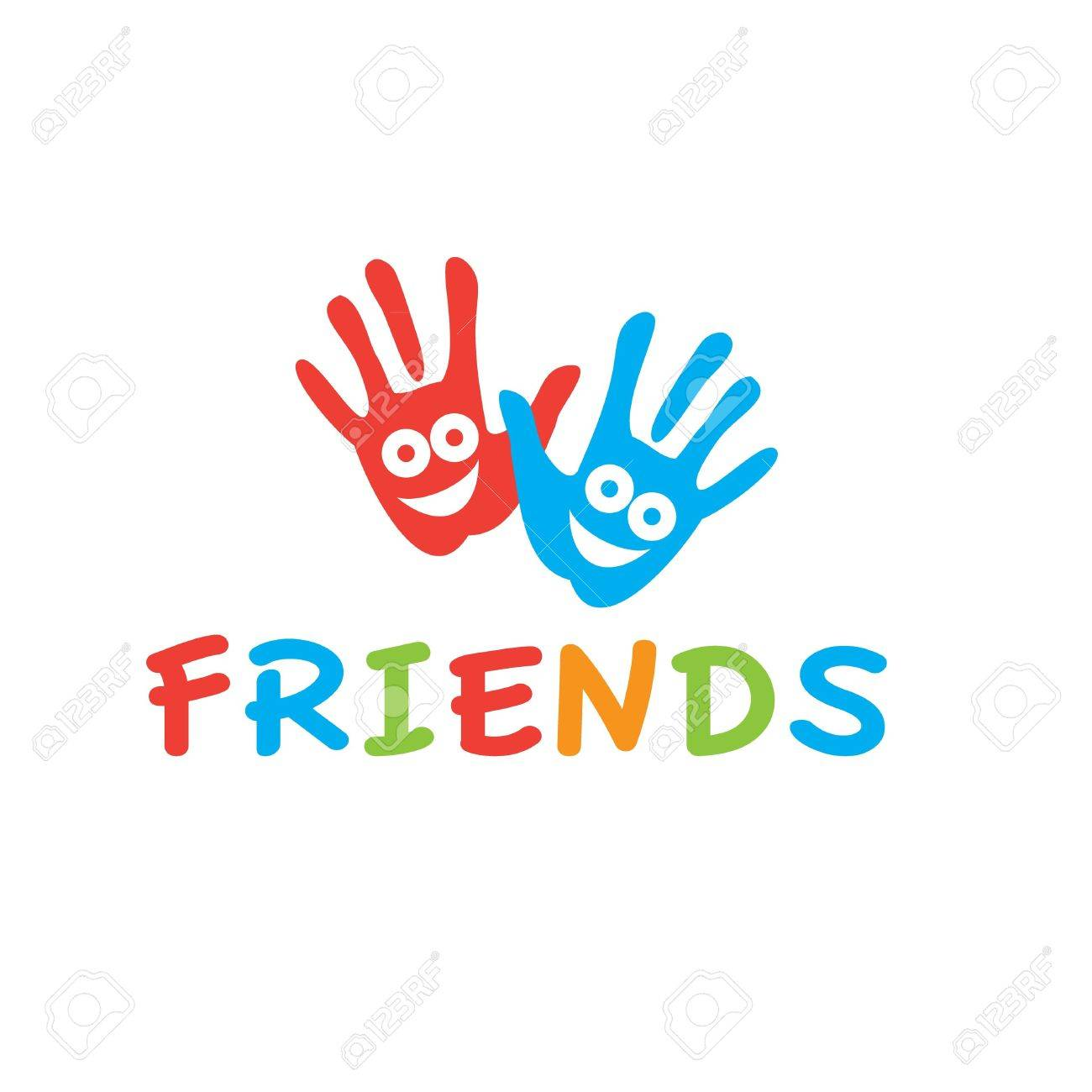 Sign of friends vector symbol of friendship smiling hands sign of friends vector symbol of friendship smiling hands stock vector 20865244 biocorpaavc Images