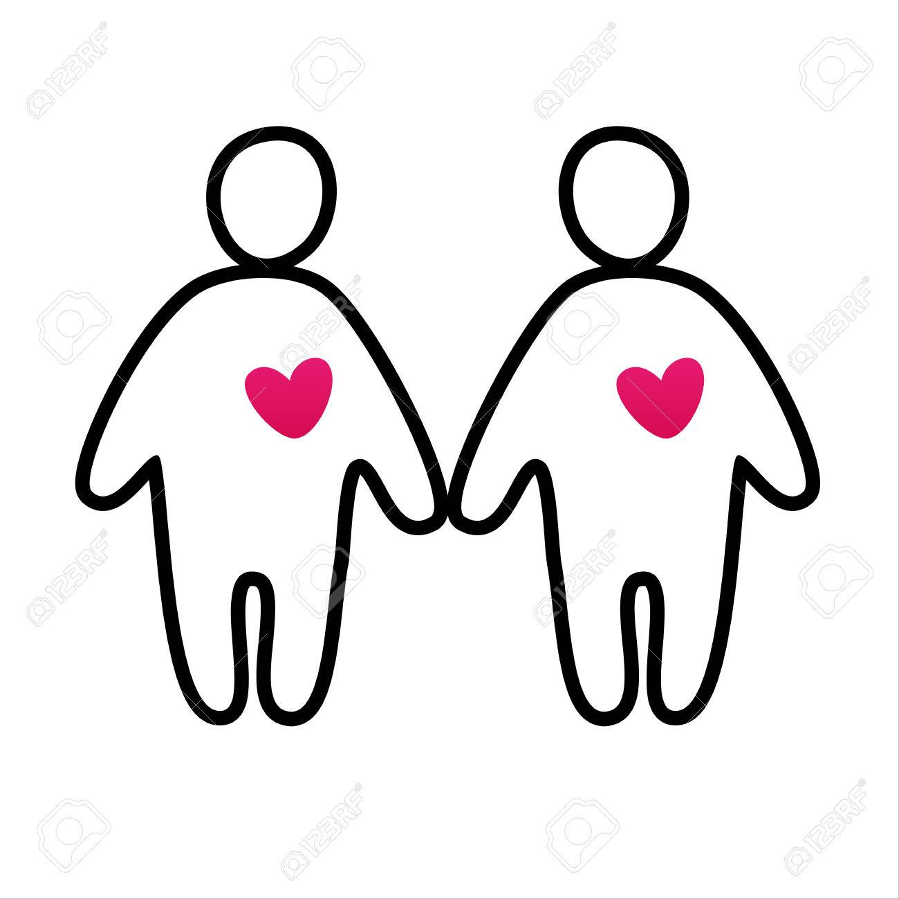 Couple In Love Vector Icon Royalty Free Cliparts Vectors And