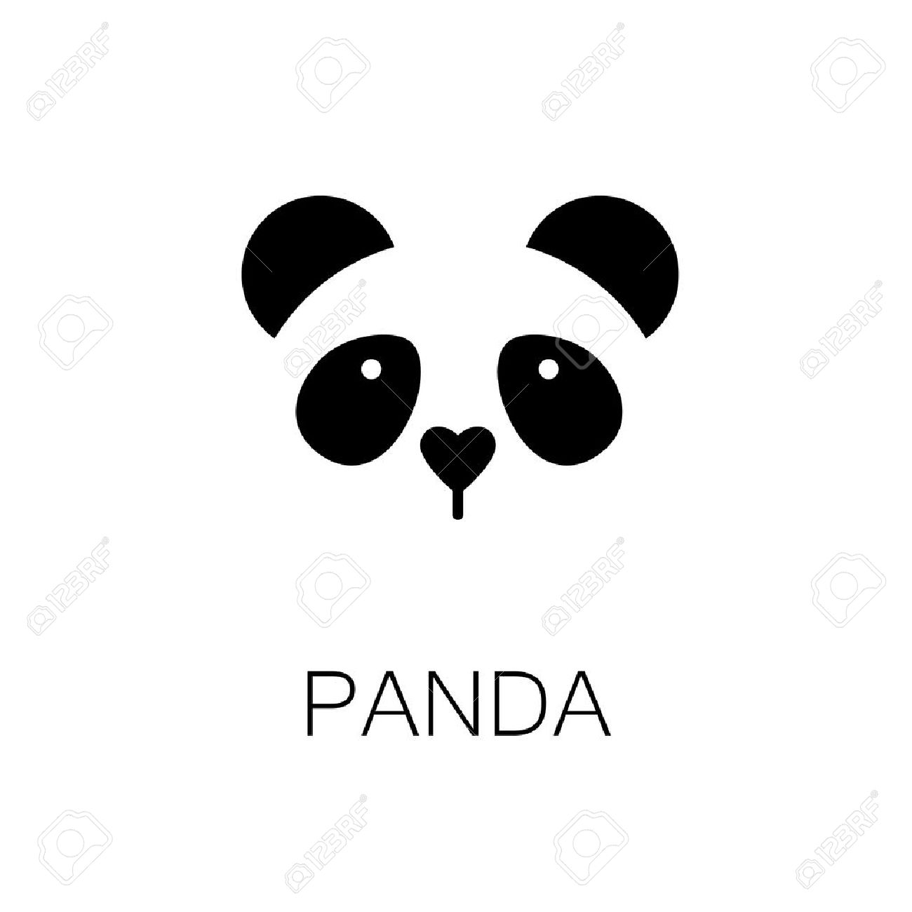 simple sign a panda design template royalty free cliparts vectors