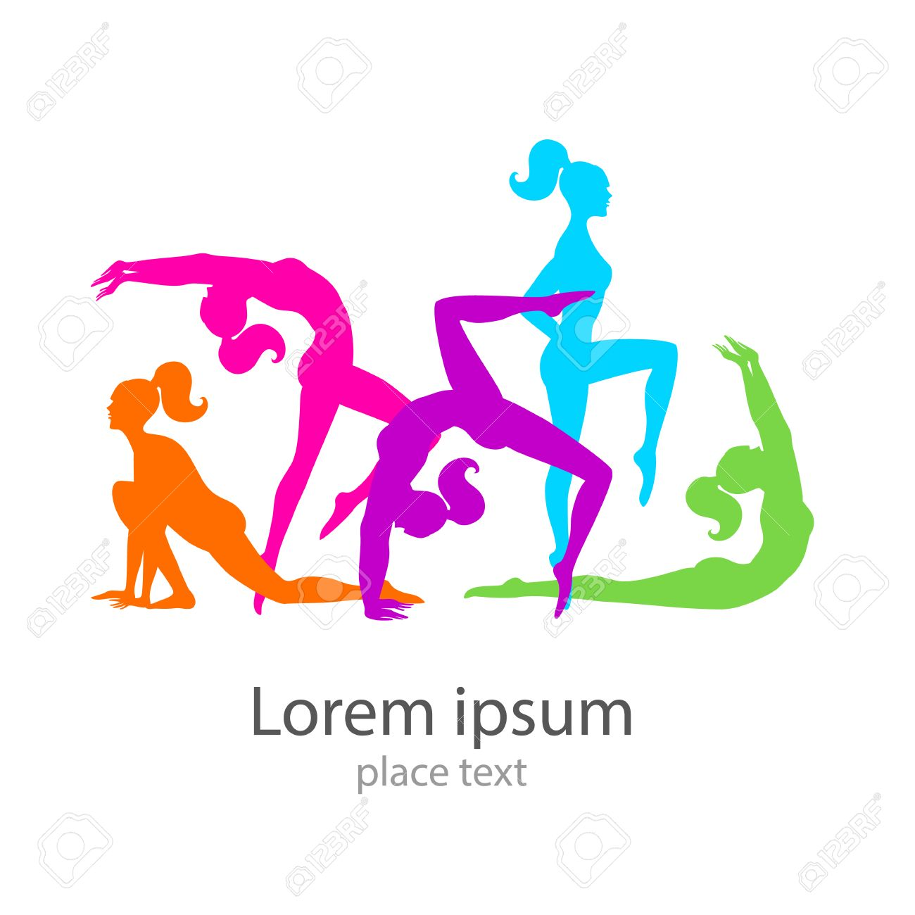 Female Sports Template Logo Fitness Gym Health Beauty Stock Vector