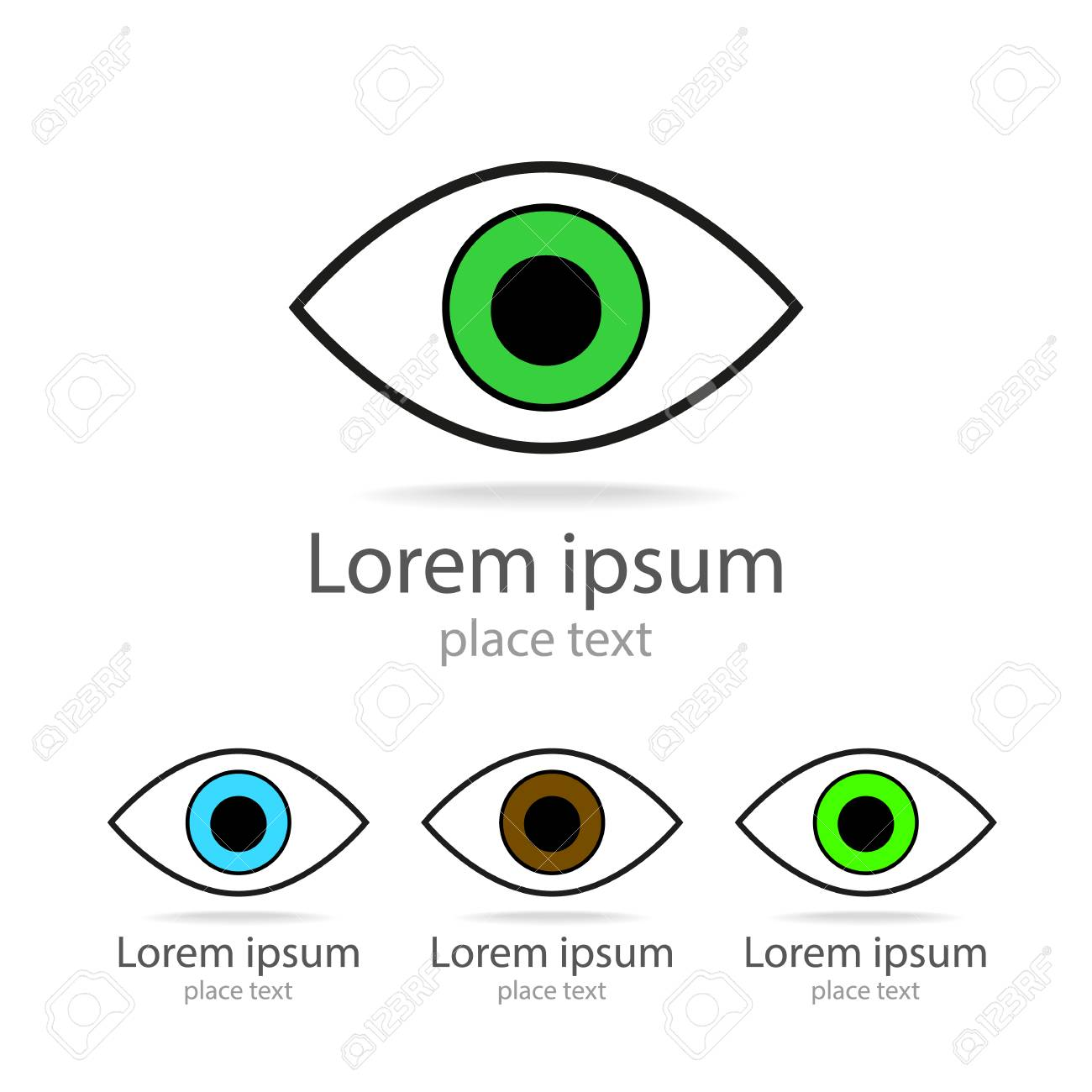 Eye Template | Symbol Der Eye Template Fur Design Lizenzfrei Nutzbare