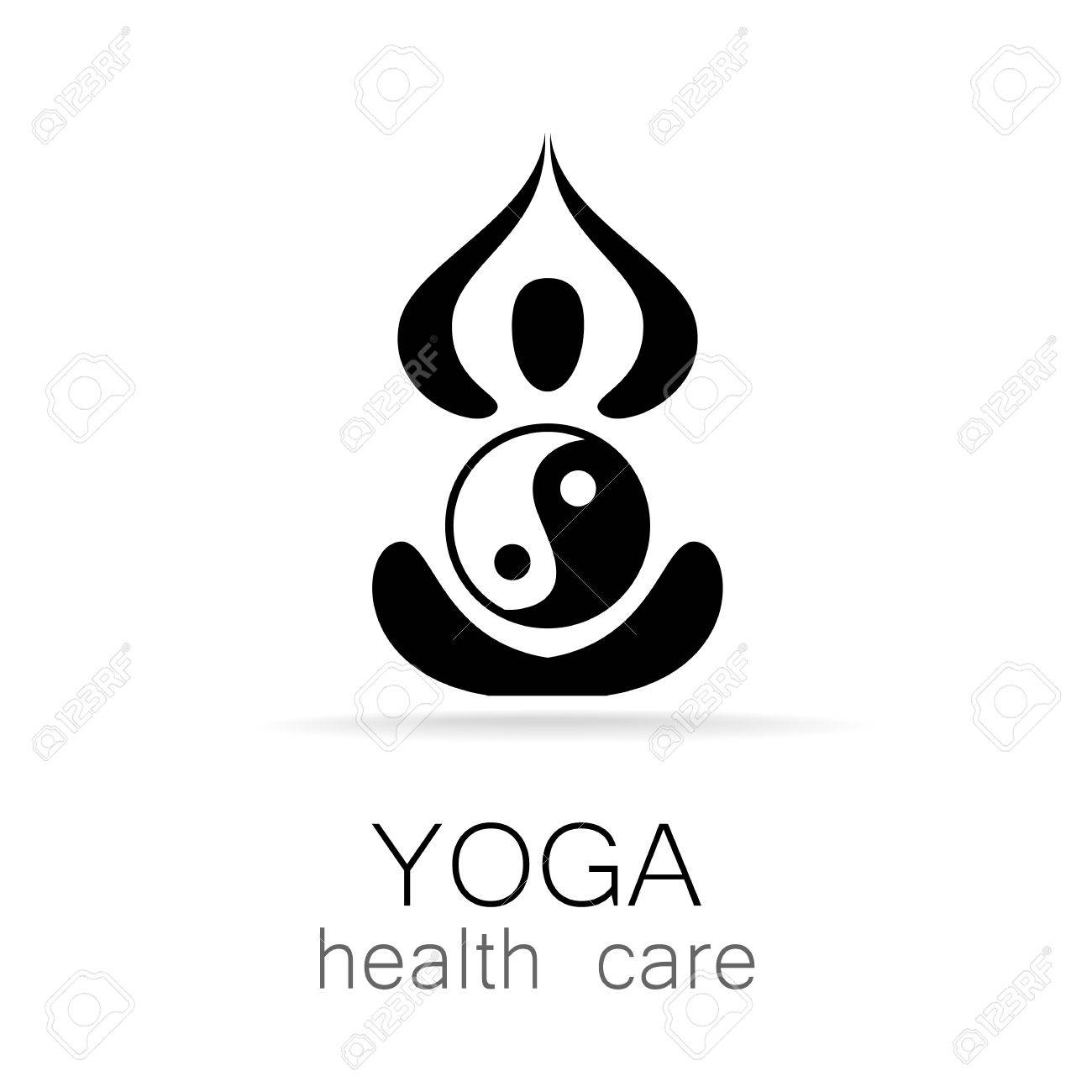Logotipo De Yoga Plantilla De Diseño Vectorial. Concepto De La Yoga ...