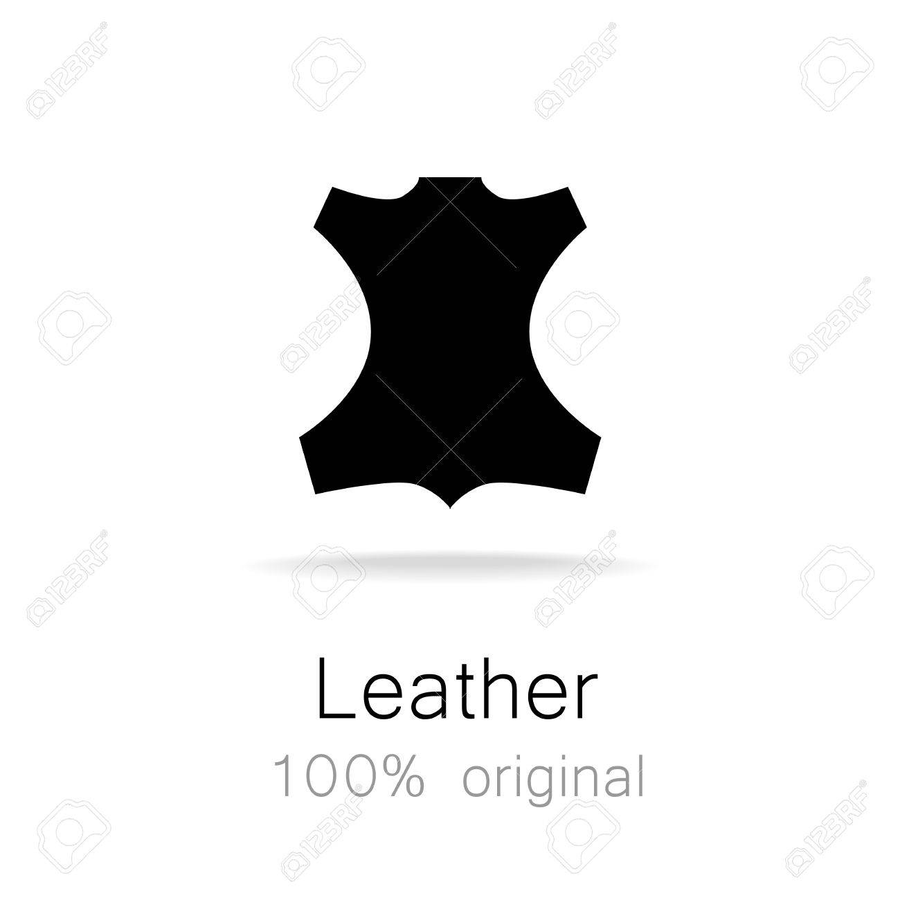 leather 100 original template sign for the label logo advertising