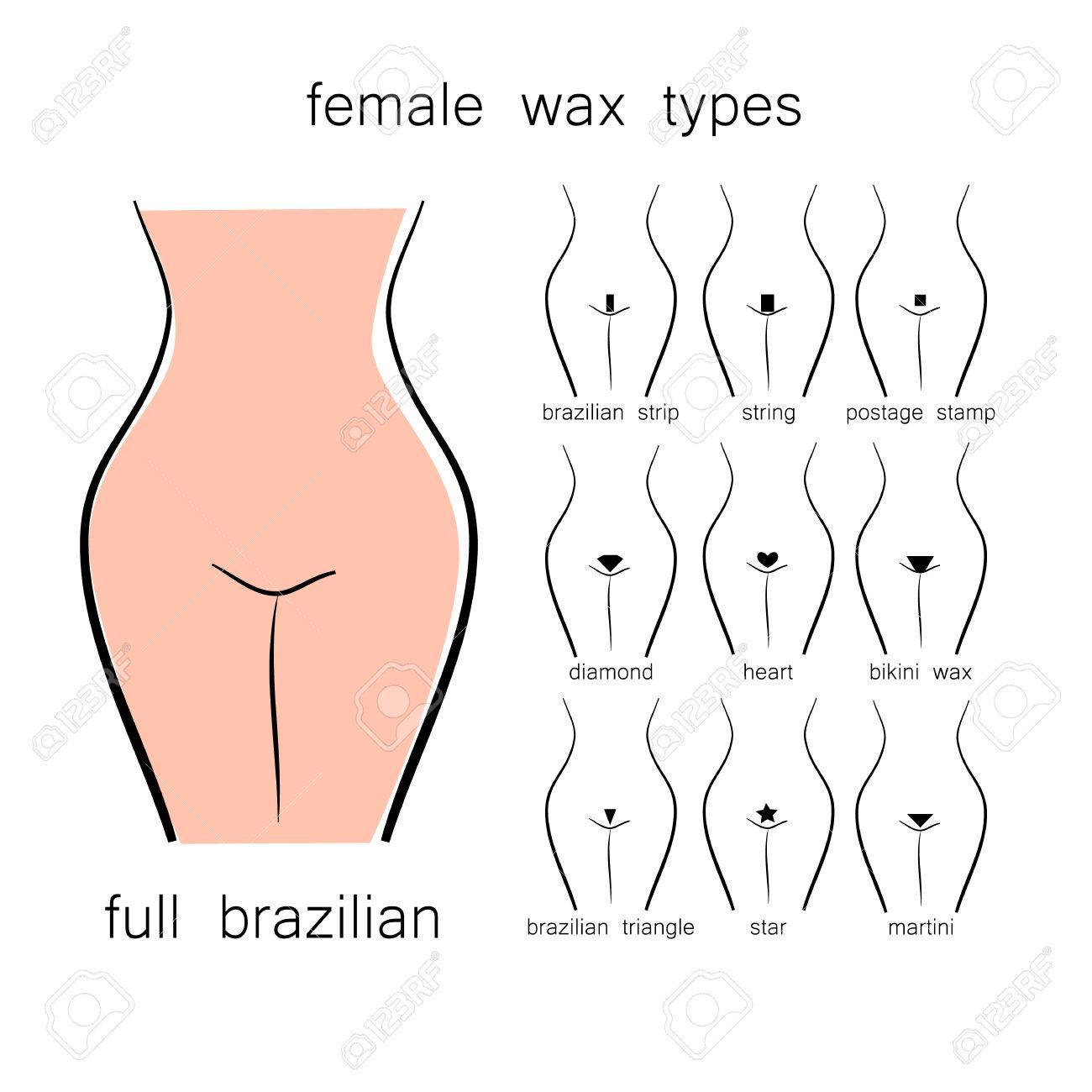 bikini waxing designs
