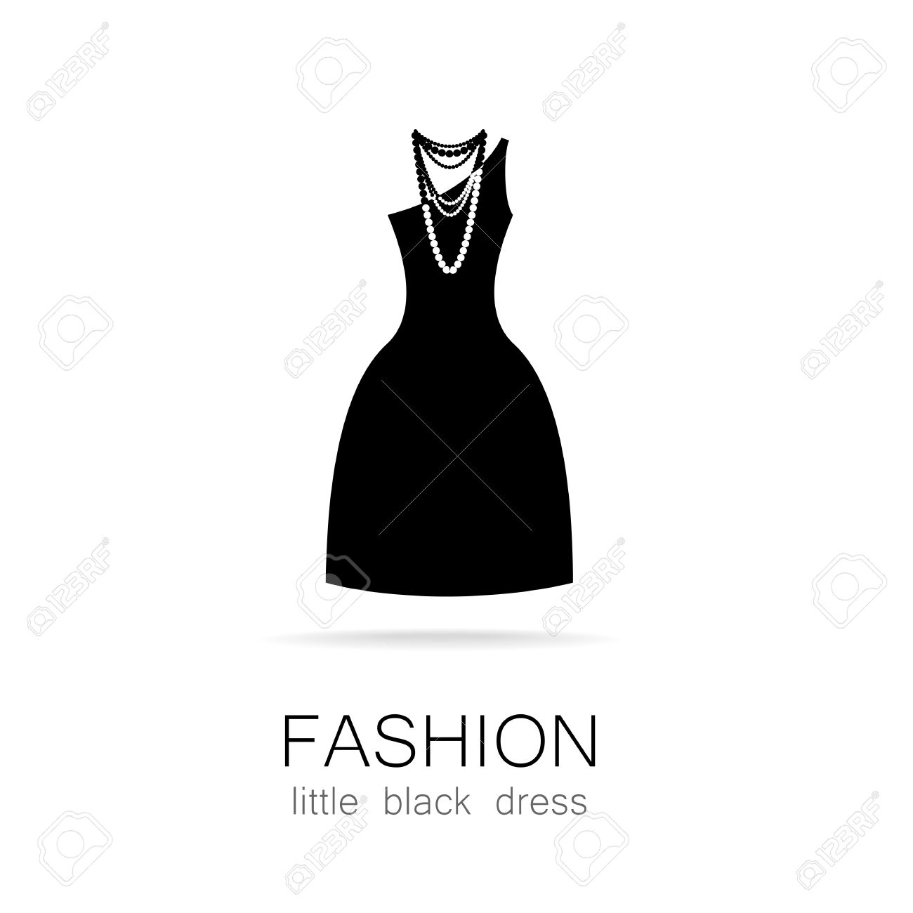 Black Dress Classic Fashion Template Logo For A Clothing Store Royalty Free Cliparts Vectors And Stock Illustration Image 43026623