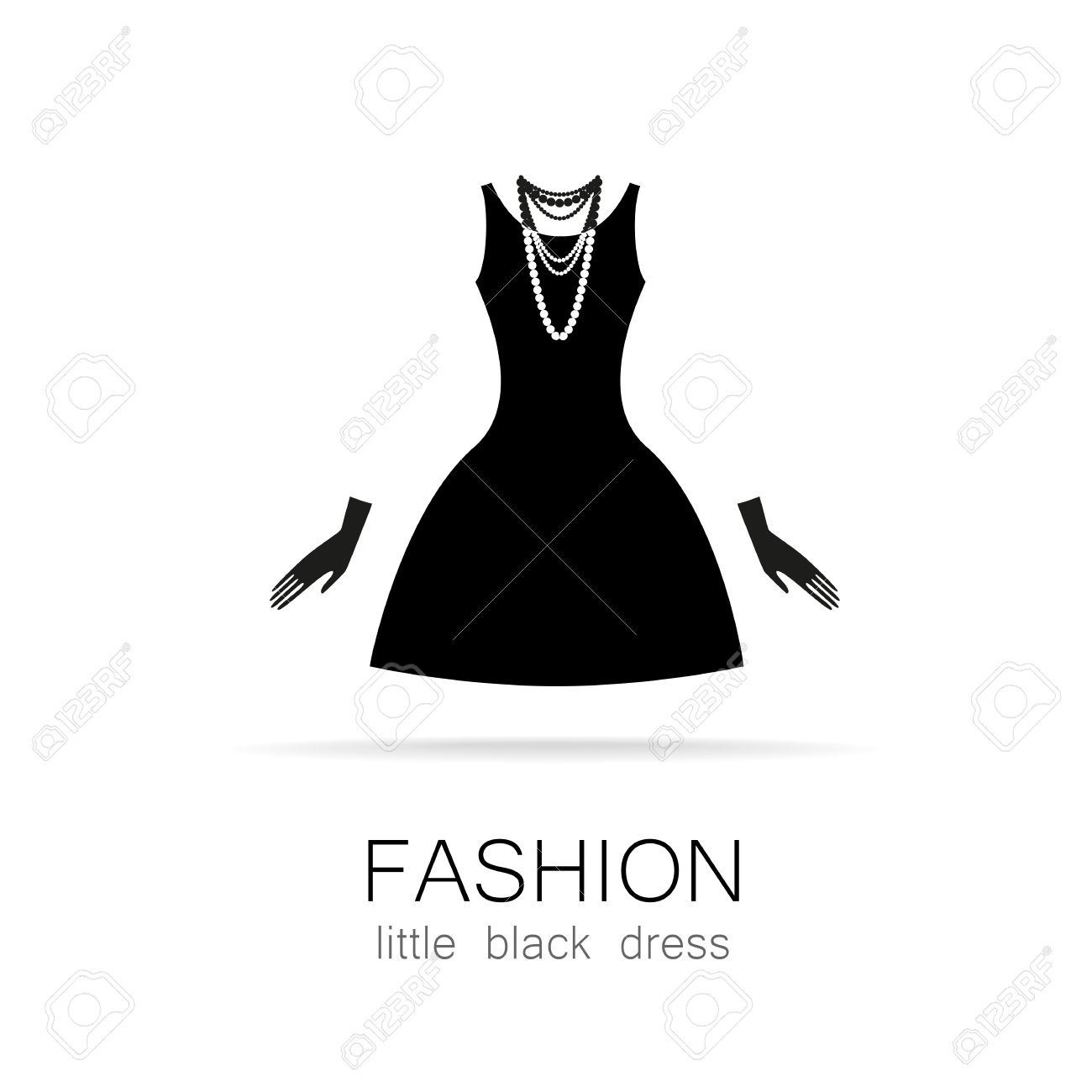 Black Dress - Classic Fashion. Template Logo For A Clothing Store ...