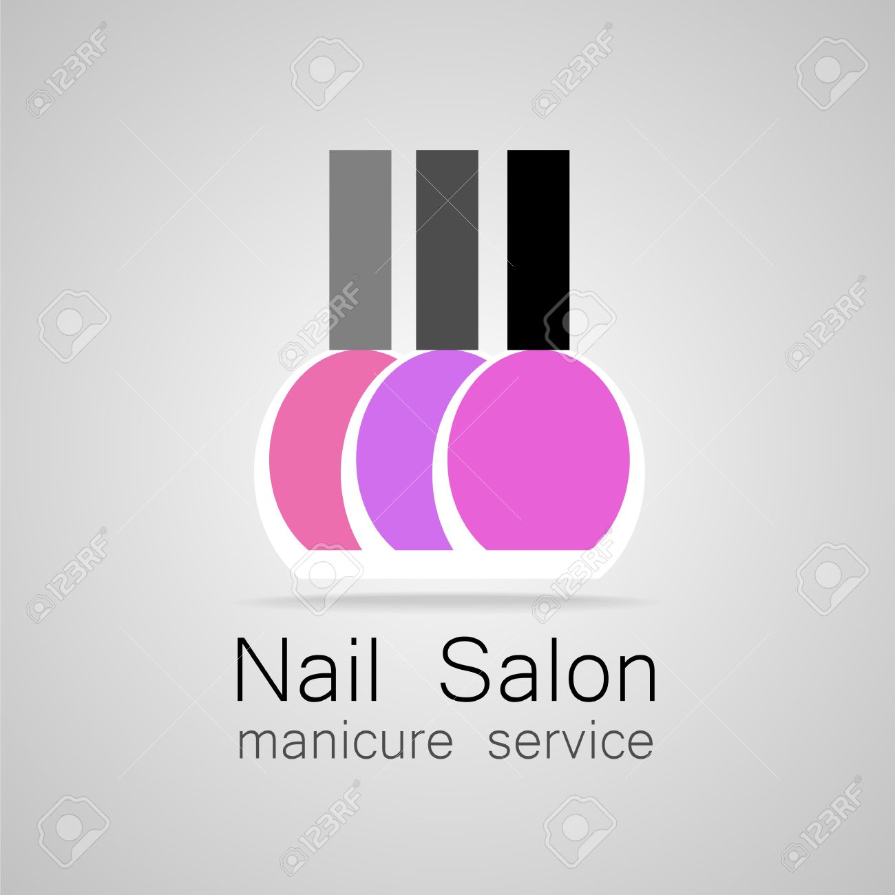 Nail Salon Logo Nail Polish A Symbol Of Manicure Design Sign
