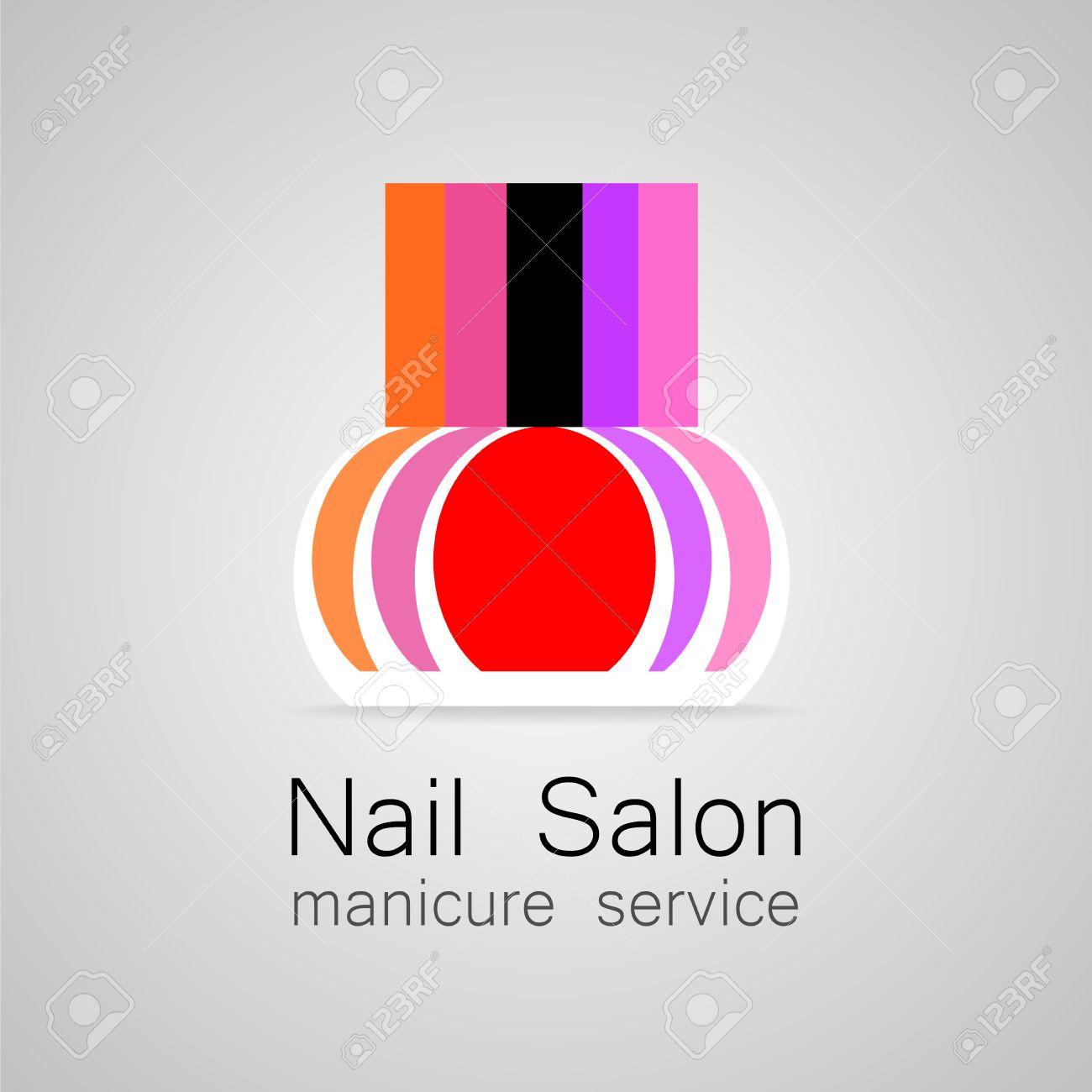 Nail salon logo nail polish a symbol of manicure design sign nail polish a symbol of manicure design sign nail buycottarizona Image collections