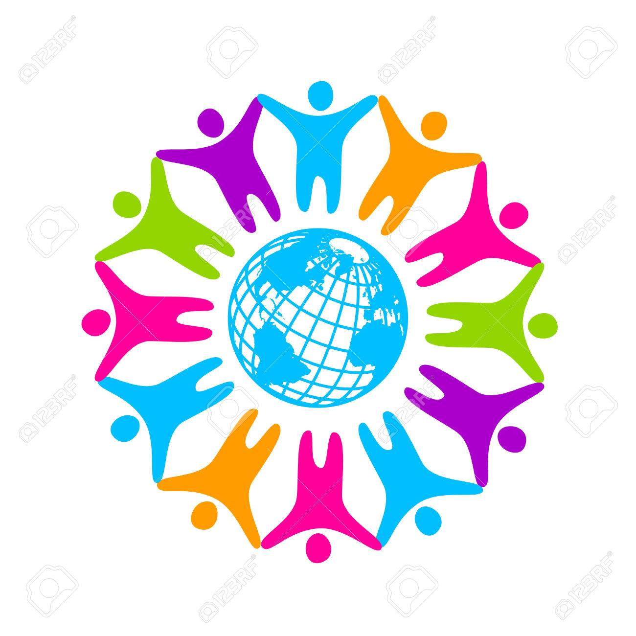people around the planet template logo for the company association