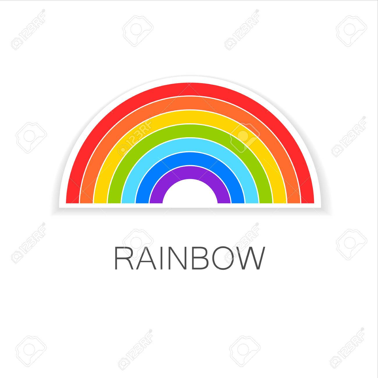 rainbow template logo symbol of happiness and success royalty rh 123rf com vector rainbow six vector rainbow mesh
