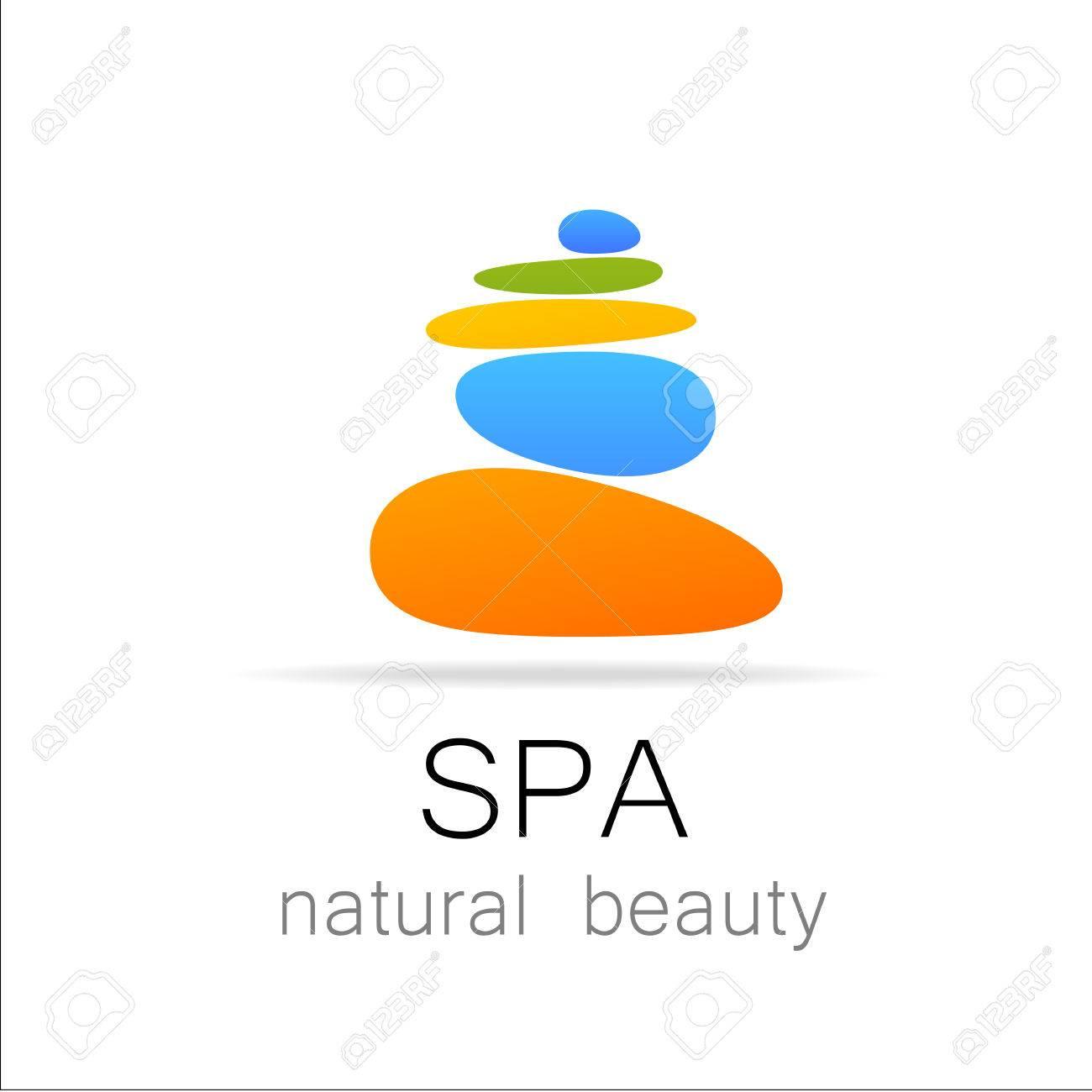 SPA - Vorlage Logo Für Spa-Lounge, Schönheitssalon, Massagebereich ...