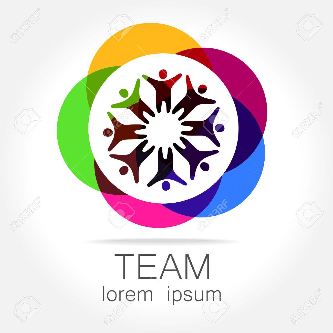 team logo template social media marketing idea corporate symbol