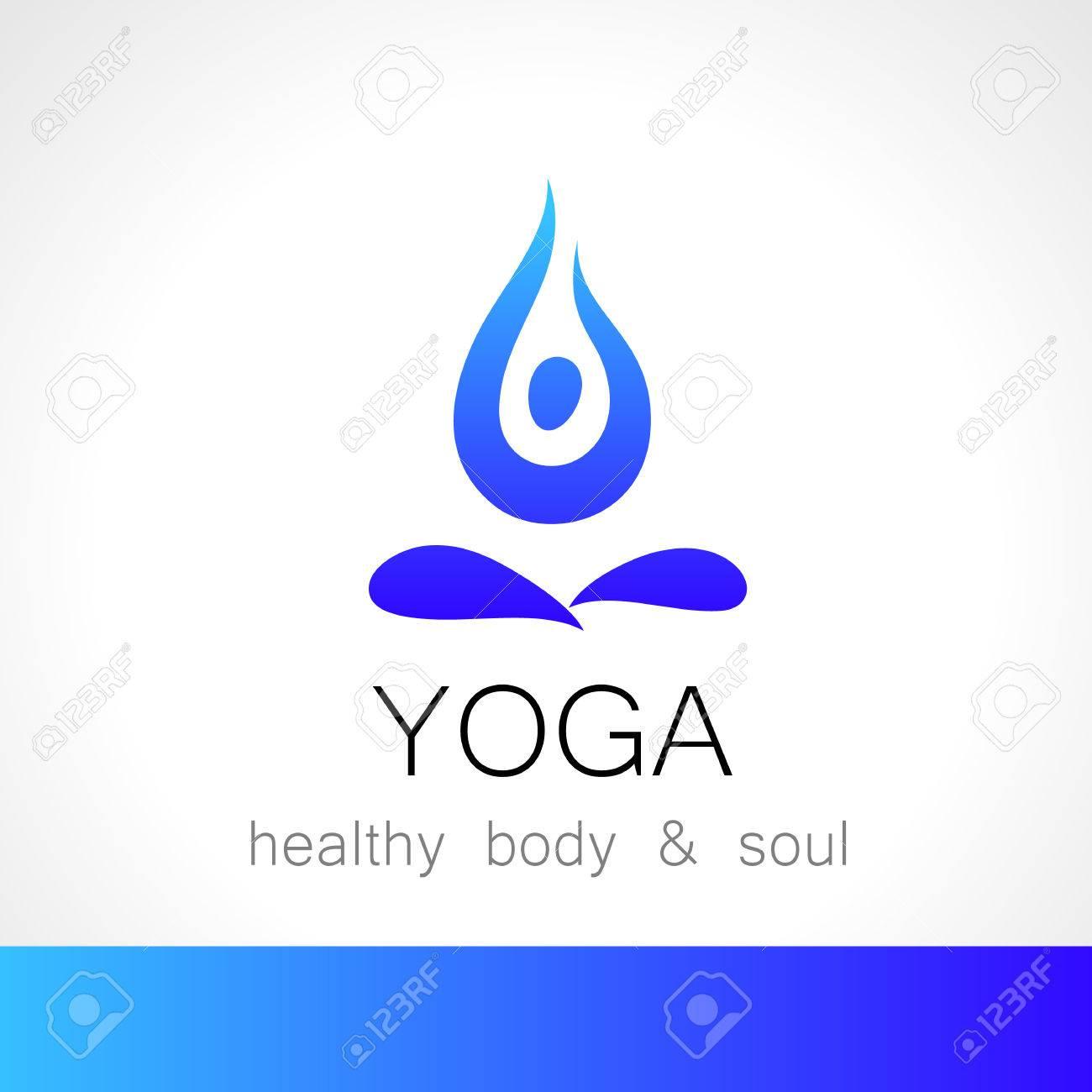 Yoga Logo - Plantilla De Diseño. Cuidado De La Salud, Belleza, Spa ...