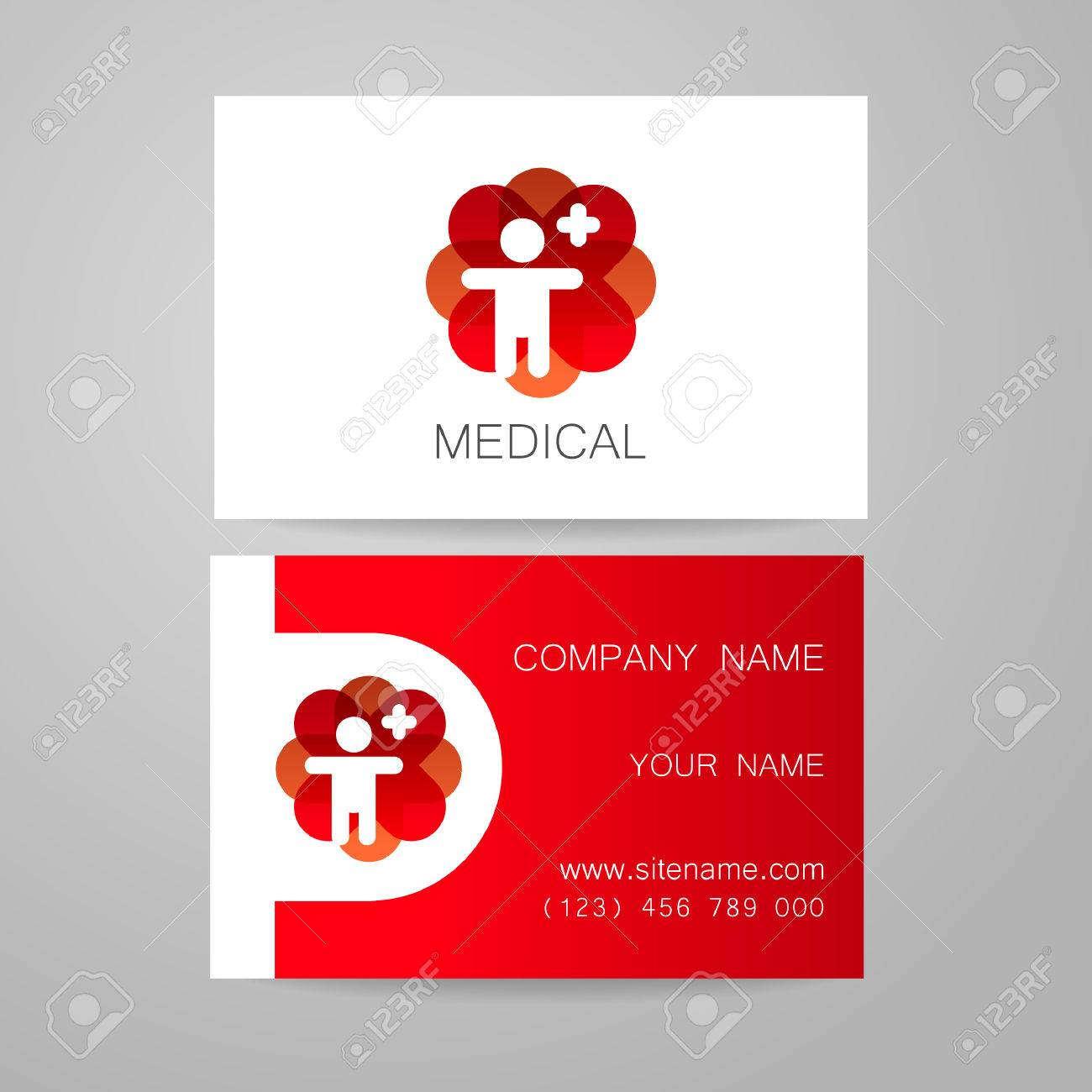 Template of medical business cards royalty free cliparts vectors template of medical business cards stock vector 44650010 reheart Image collections