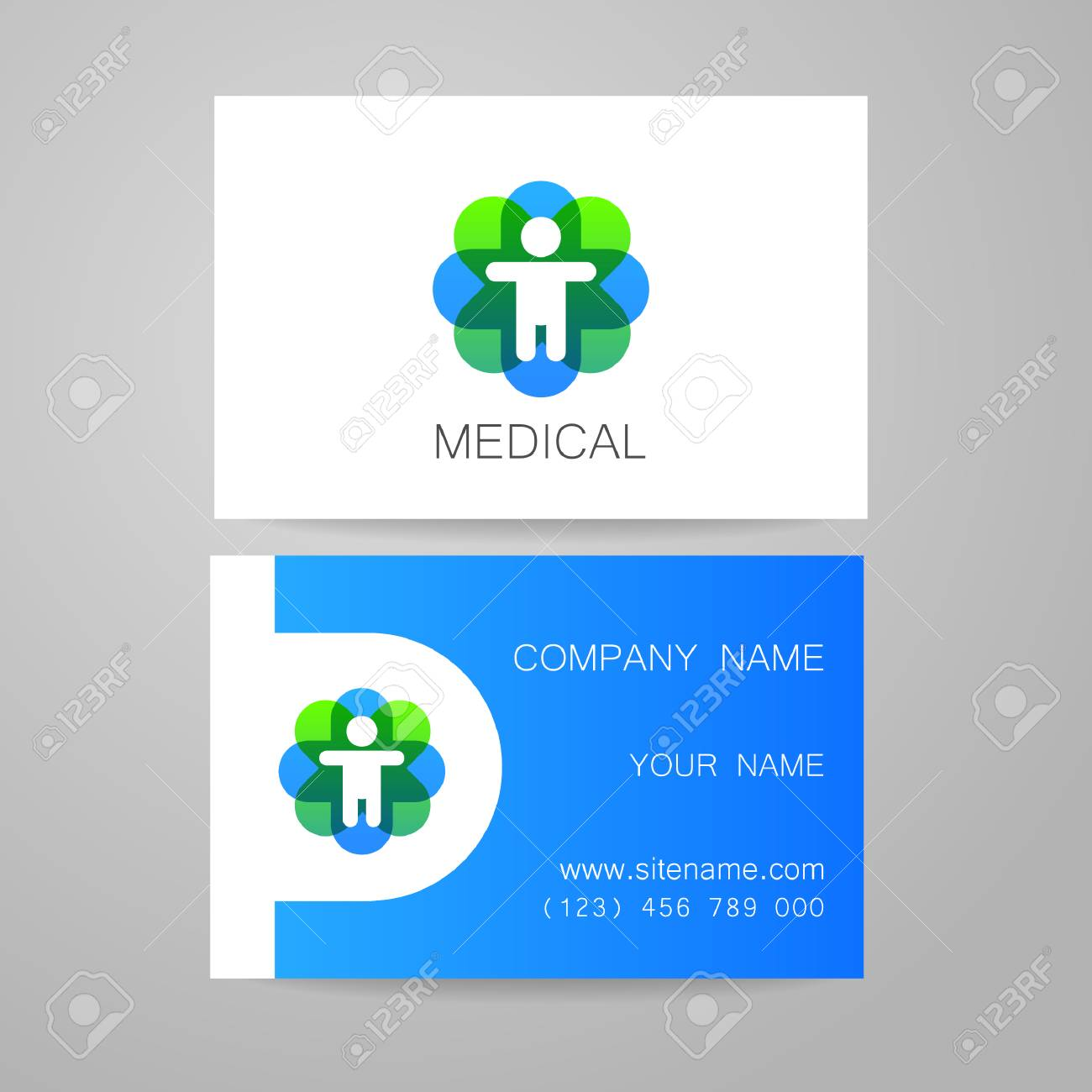 Template Of Medical Business Cards. Royalty Free Cliparts, Vectors ...