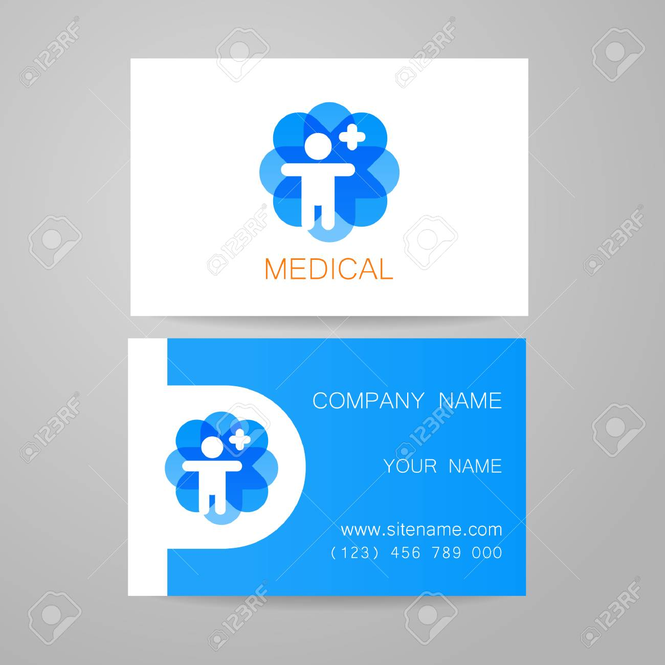 Template of medical business cards royalty free cliparts vectors template of medical business cards stock vector 44647873 reheart Image collections