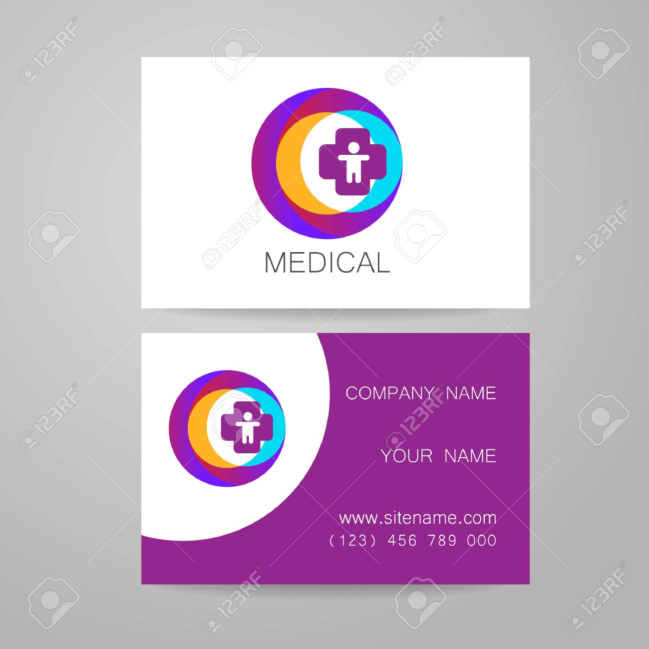 Template Of Medical Business Cards Royalty Free Cliparts Vectors - Medical business cards templates free