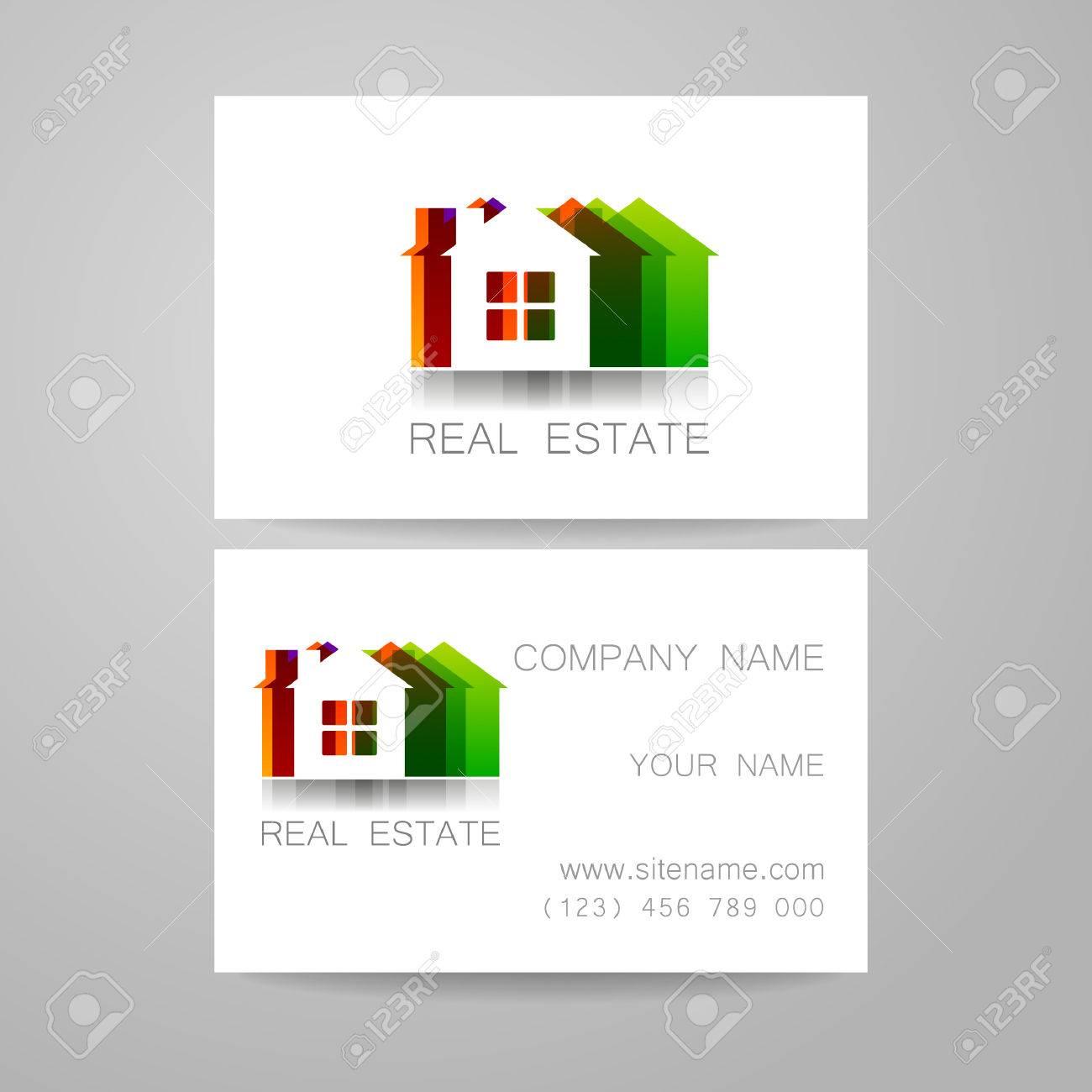 Immobilier Modle De Conception Lidentit Dentreprise Carte Visite