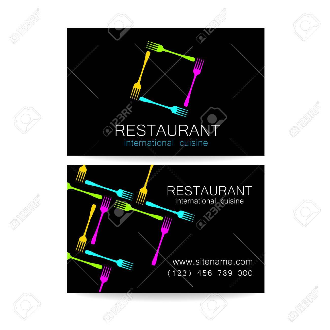 Modele De Conception Le Concept Restaurants Corporatifs Style Servant Une Cuisine Internationale Un Exemple Dune Carte Visite