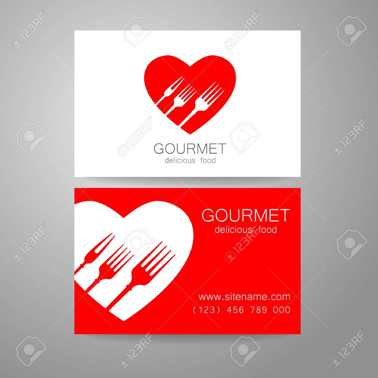 Gourmet restaurant logo design corporate brand and the business banco de imagens gourmet restaurant logo design corporate brand and the business card of the restaurant with refined cuisine reheart Choice Image