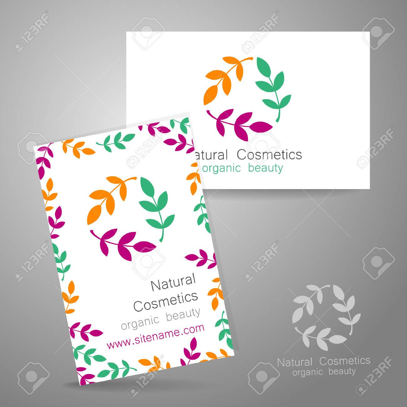 Natural Cosmetics Logo. Template Design For Organic Bio Products ...