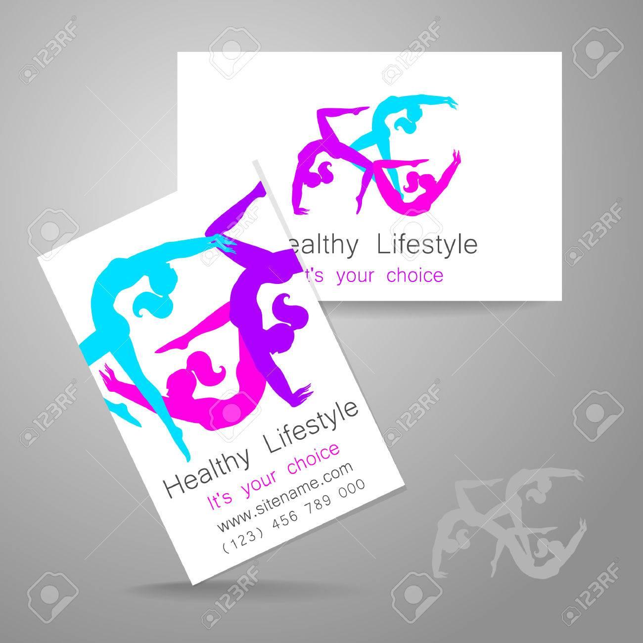 Fitness Logo. Corporate Design Template Business Card Sports ...