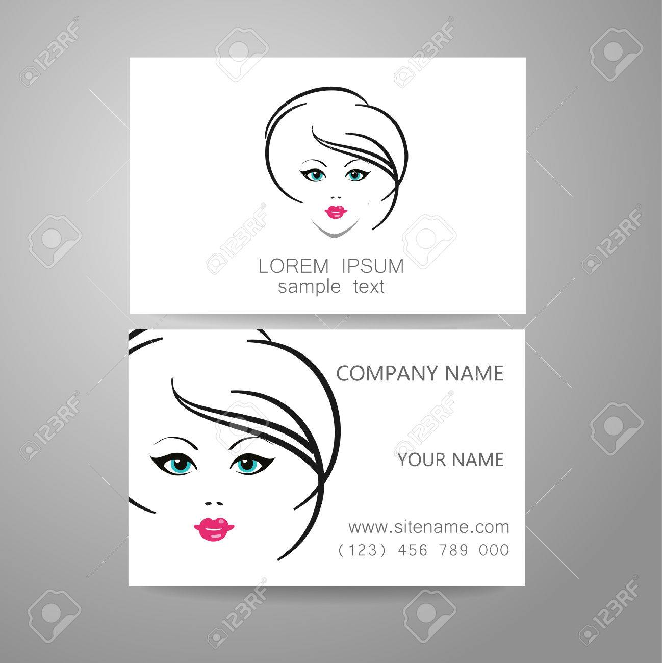 Business Cards For Hair Salon Image collections - Free Business Cards