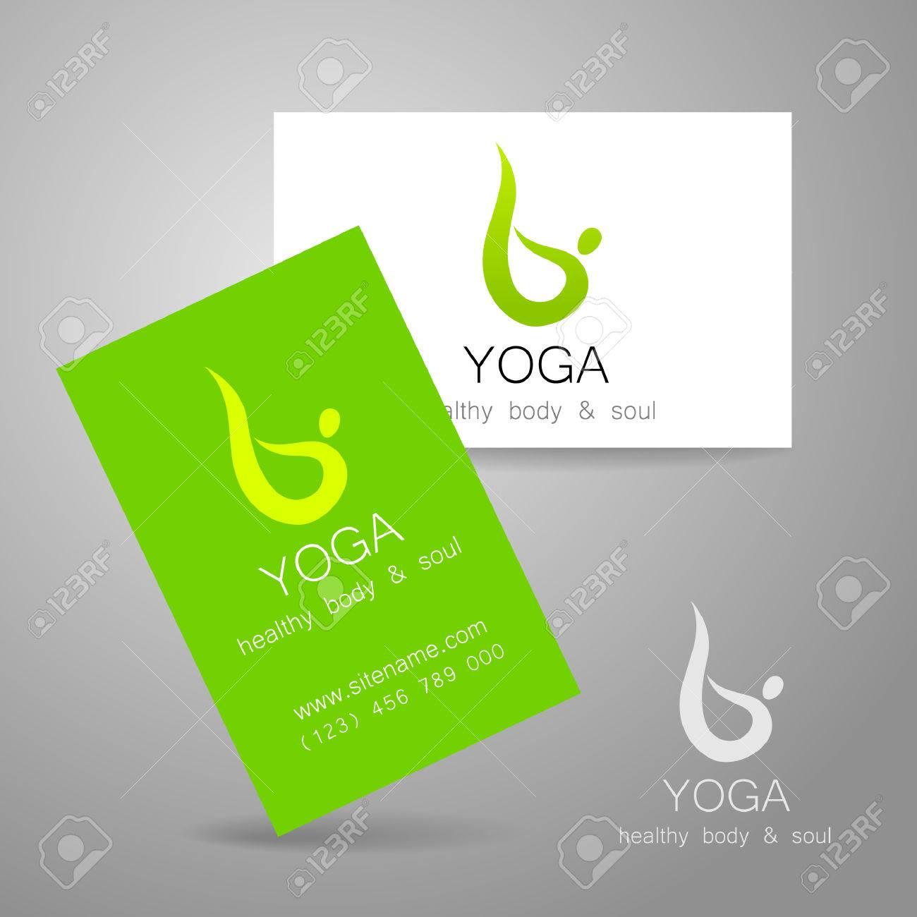 Logotipo De La Yoga - Diseño De La Muestra Y Tarjetas De Visita ...