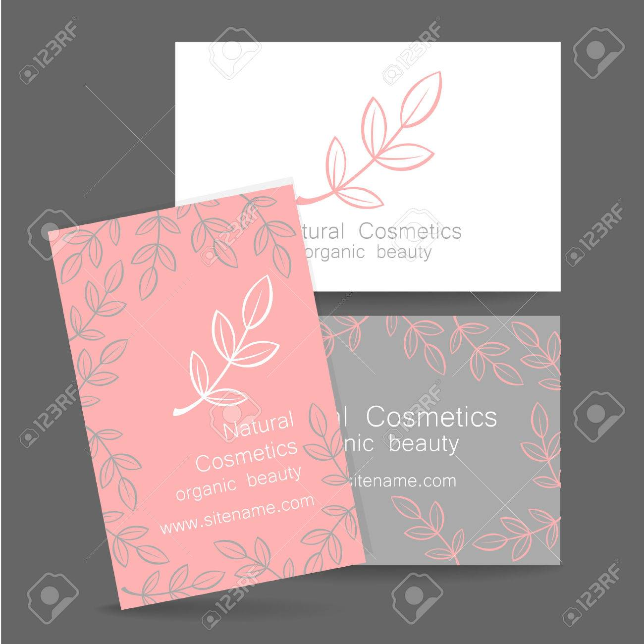 Natural cosmetics logo template design for organic bio products natural cosmetics logo template design for organic bio products presentation of the business card colourmoves
