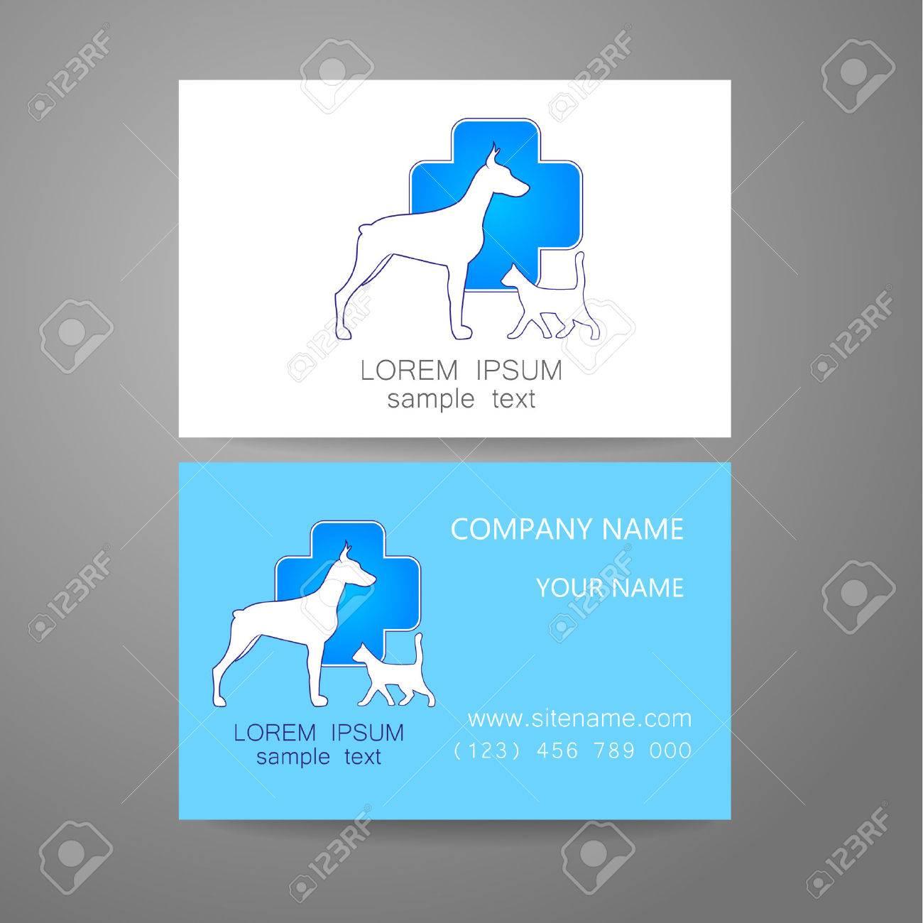 Lidee Du Logo Pour Le Service Veterinaire Pharmacie Hopital Soins De Centre Des Animaux Dabri Carte Visite Marque
