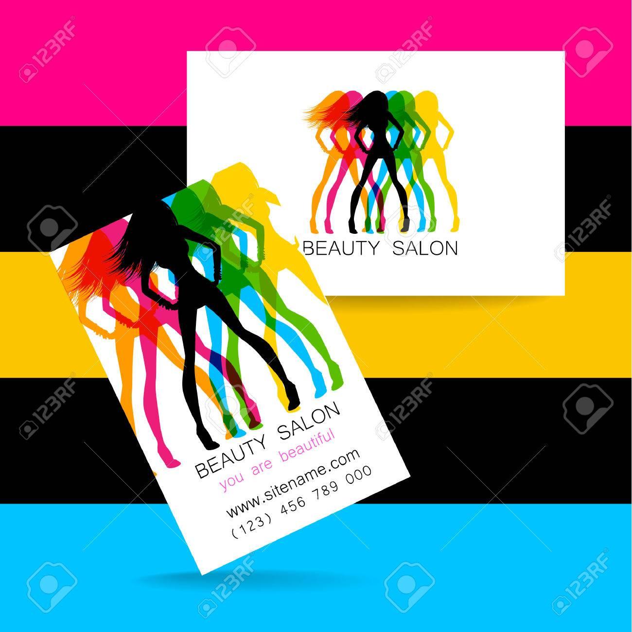 Logo De Belleza. Diseño De La Identidad Corporativa. Tarjeta De ...