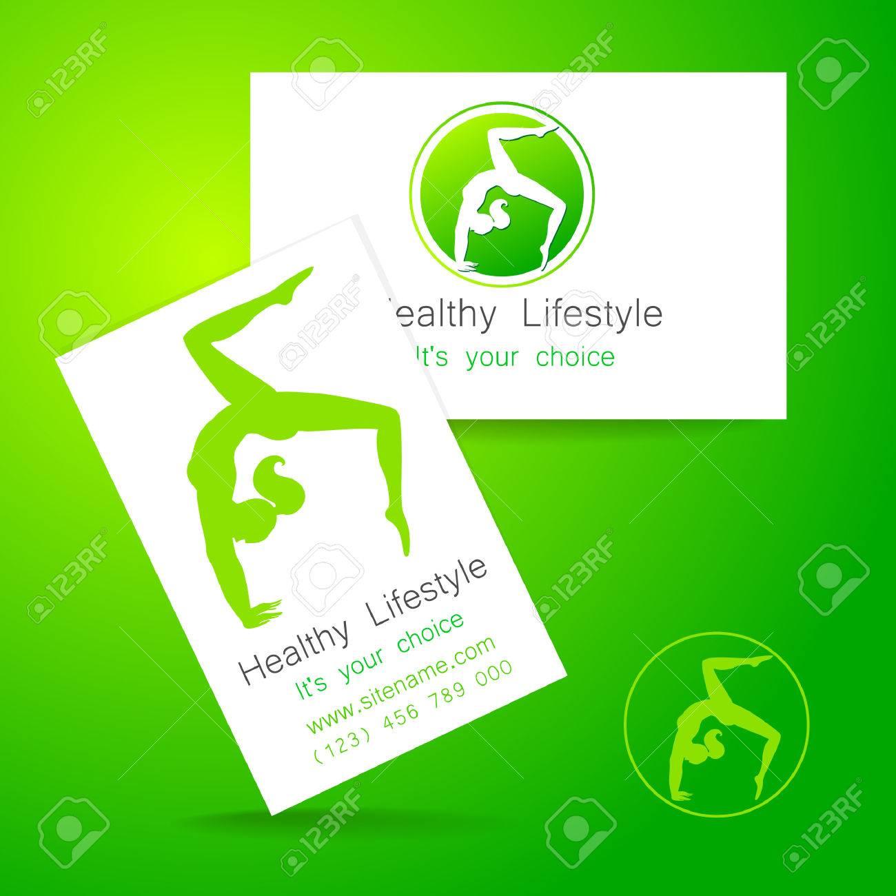 Fitness logo corporate design template business card sports corporate design template business card sports club fitness center beauty salon colourmoves