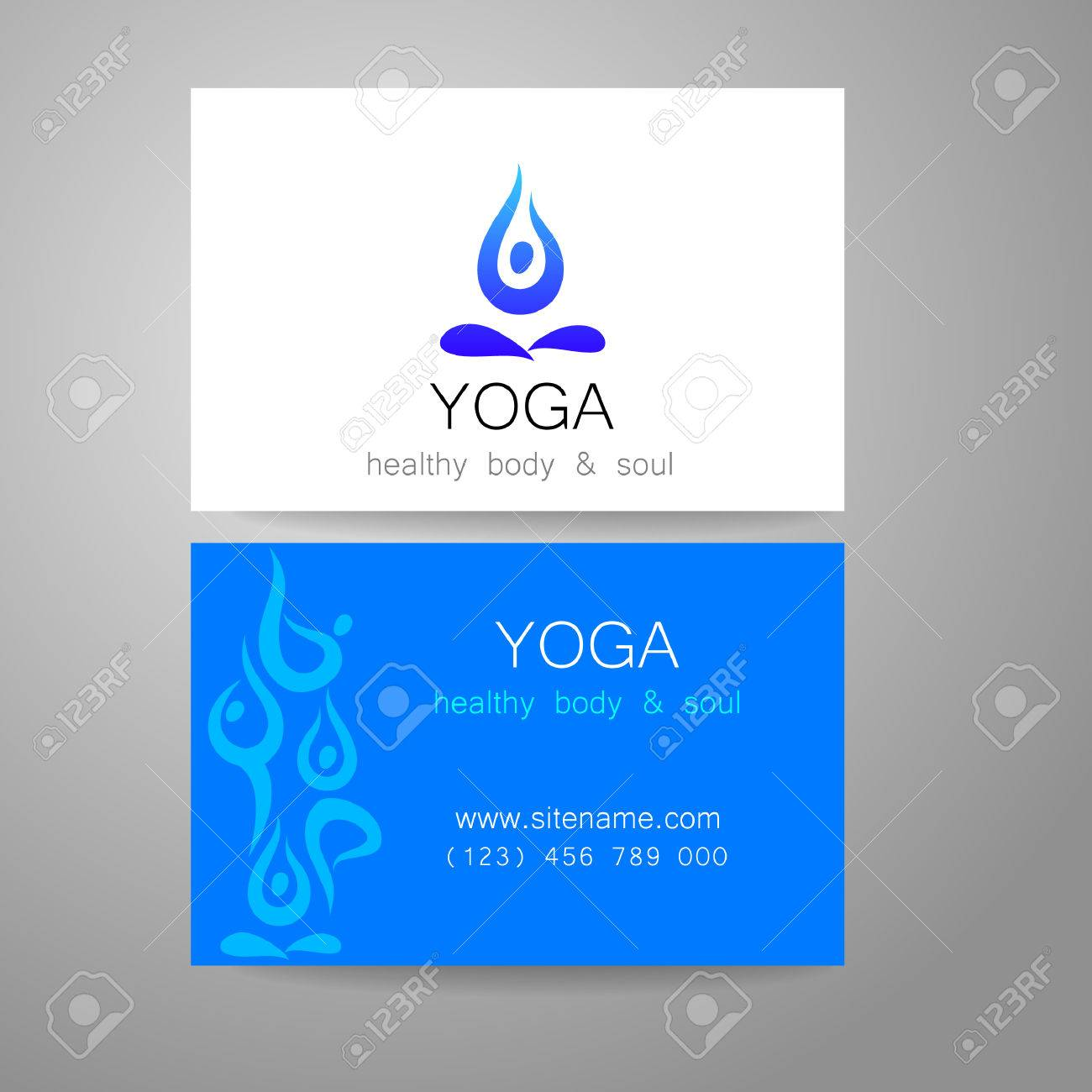 Yoga Logo - Sign Design And Business Cards. Template For Yoga ...
