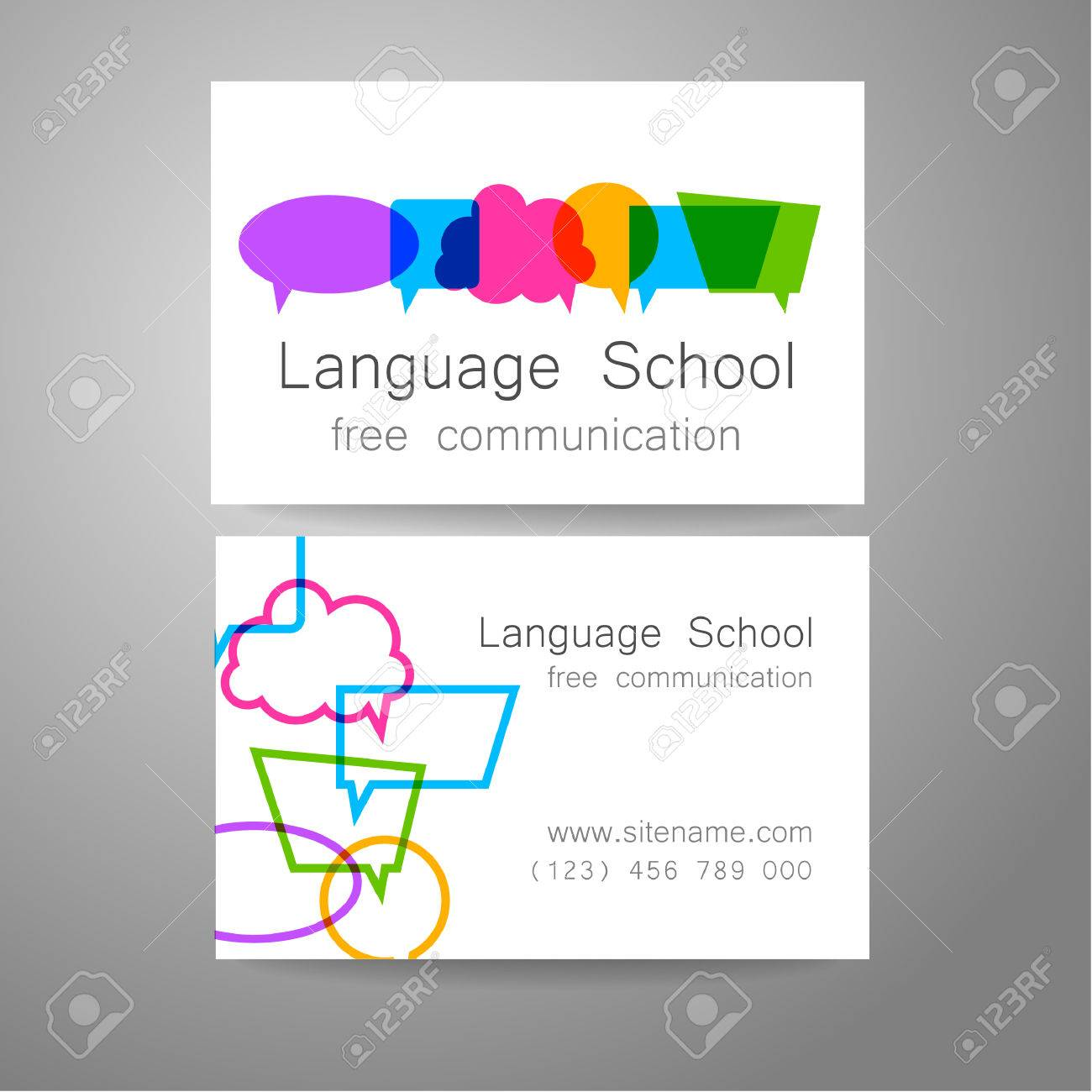 Gut gemocht École De Langue Logo - Un Modèle De Conception. L'idée De La  TY85
