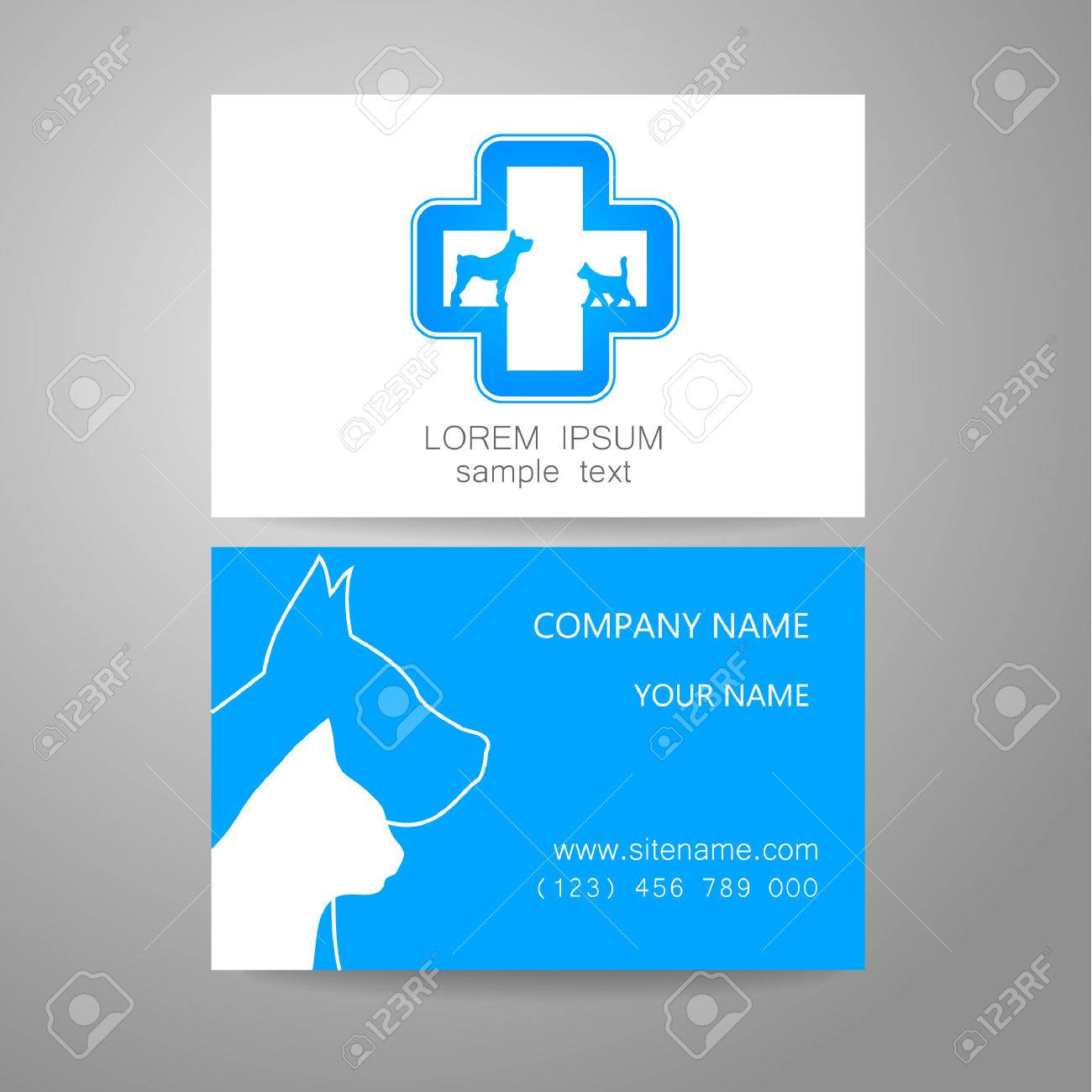 Veterinary template logo the idea of the logo for the veterinary the idea of the logo for the veterinary service pharmacy hospital center care shelter animals branded business card reheart Image collections