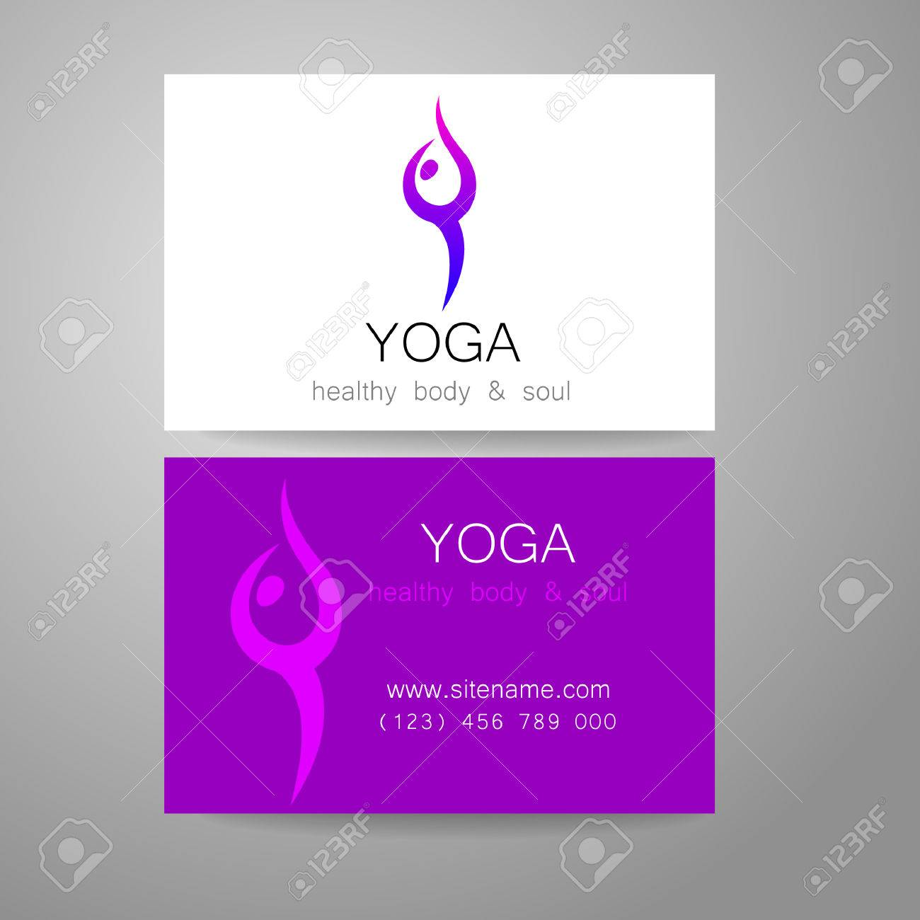 Yoga logo sign design and business cards template for yoga yoga logo sign design and business cards template for yoga studios classes reheart Image collections