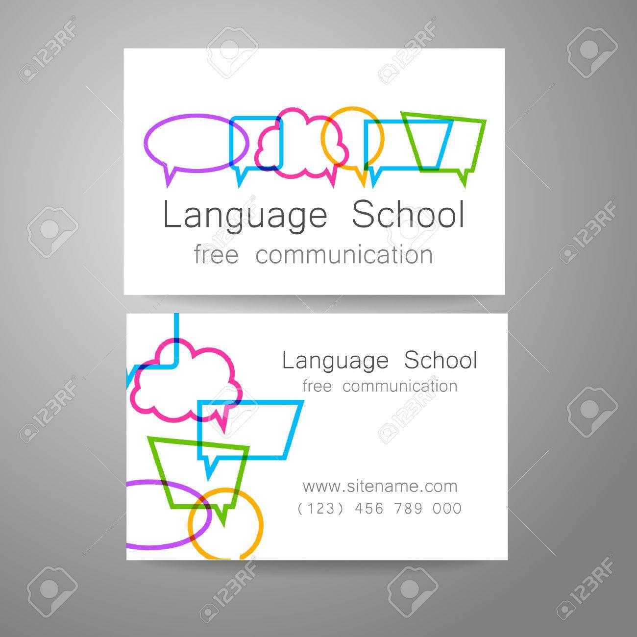 Sprachschule Logo - Ein Design-Vorlage. Die Idee Der Bildmarke Für ...