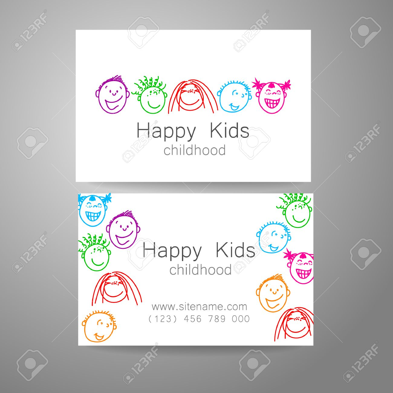 Happy children logo template design sign for school kindergarten vector happy children logo template design sign for school kindergarten summer camps childrens team and others branded business card colourmoves