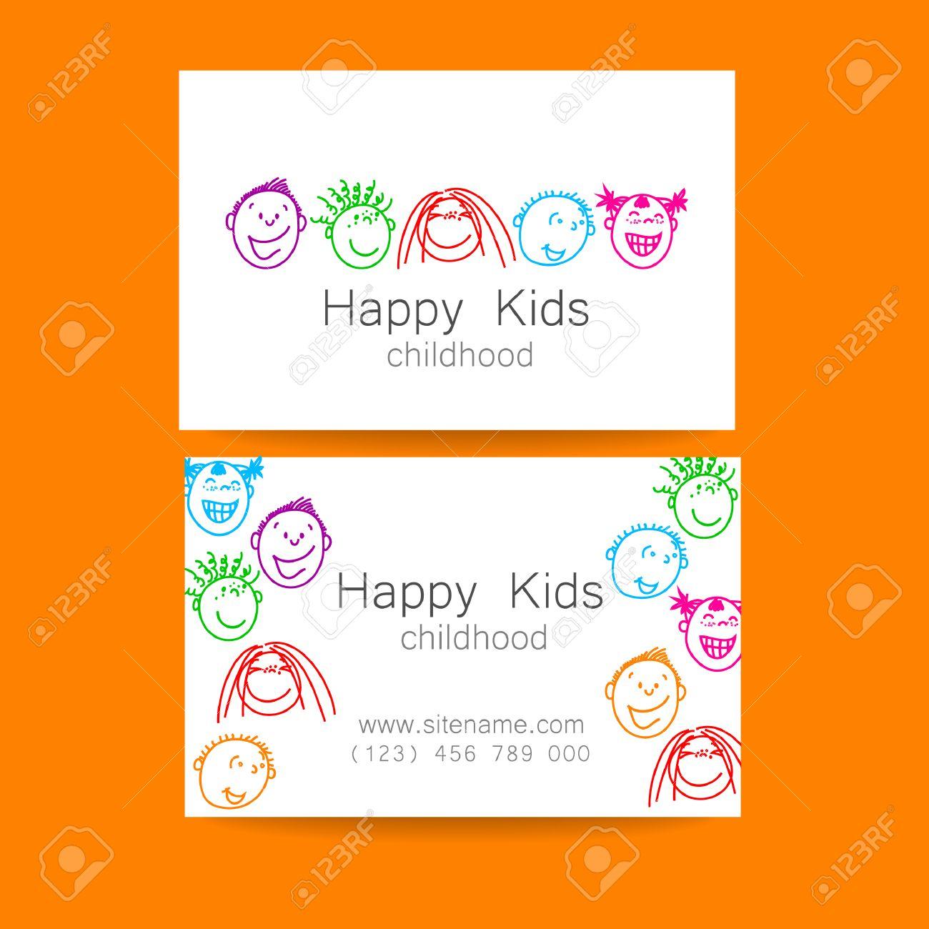 Bonne Logo Des Enfants Signe De Conception Modele Pour Lecole La