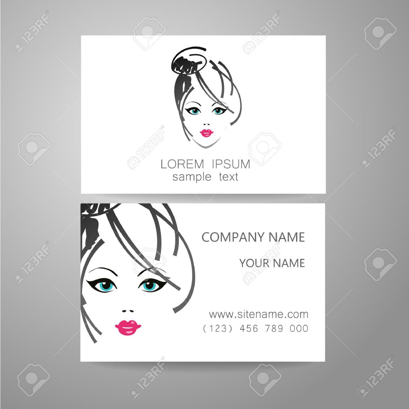 Hair Salon, Hairdresser - Template Logo. Branded Business Card ...