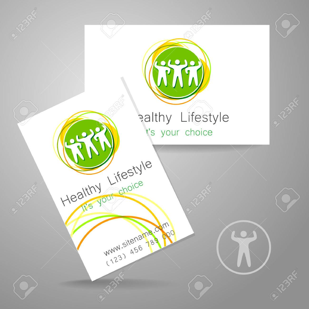 Sport Club Logo Corporate Design Template Business Card Sports – Club Card Design
