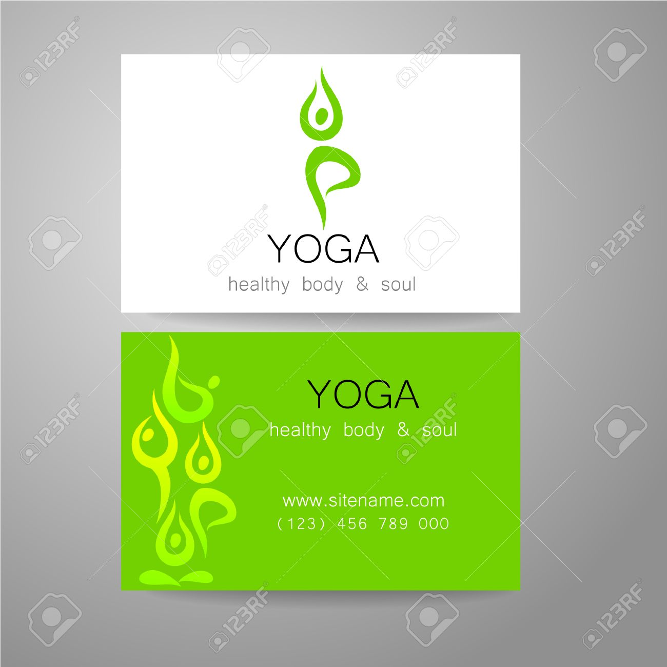 Yoga logo sign design and business cards template for yoga yoga logo sign design and business cards template for yoga studios classes reheart Choice Image