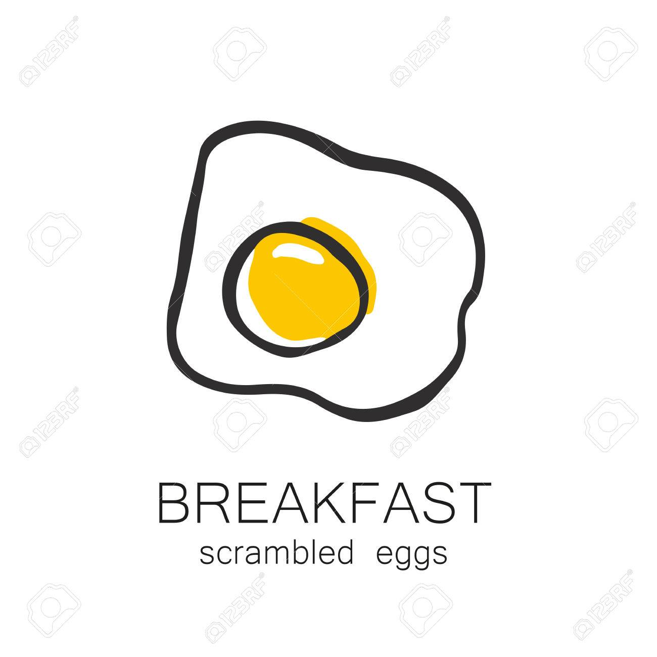 Breakfast Fried Or Scrambled Eggs Template Design For The
