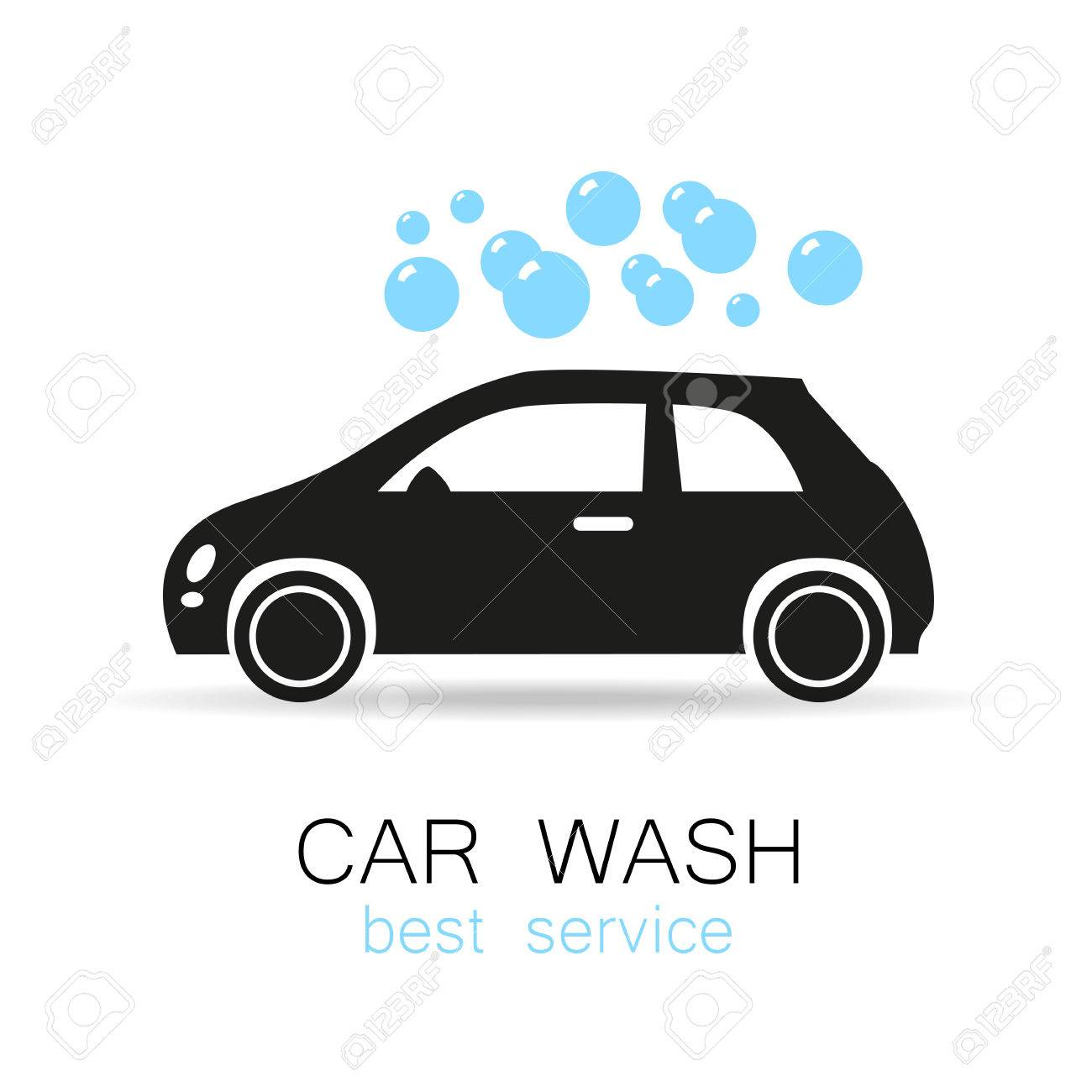 Car Wash - Vector Sign. Template Design For Icons, Stickers Carwash ...