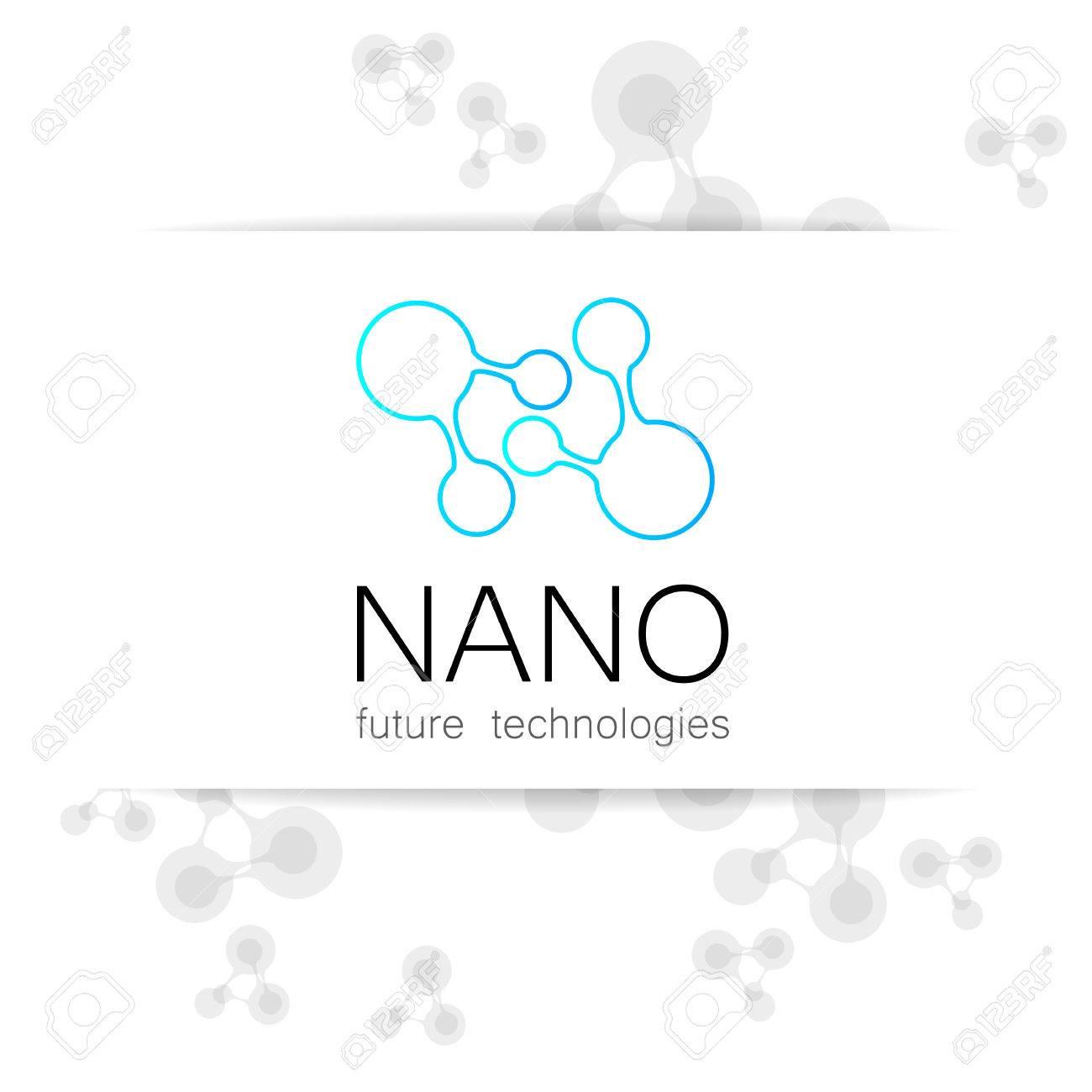 Nano - Nanotechnology. Template Design Presentation. Royalty Free ...