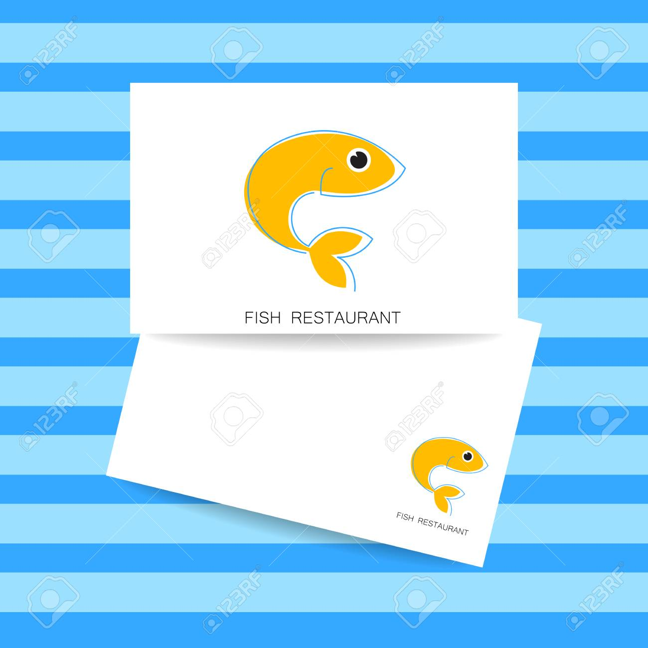 Seafood Identity Template For Branding Identity Fish Restaurant