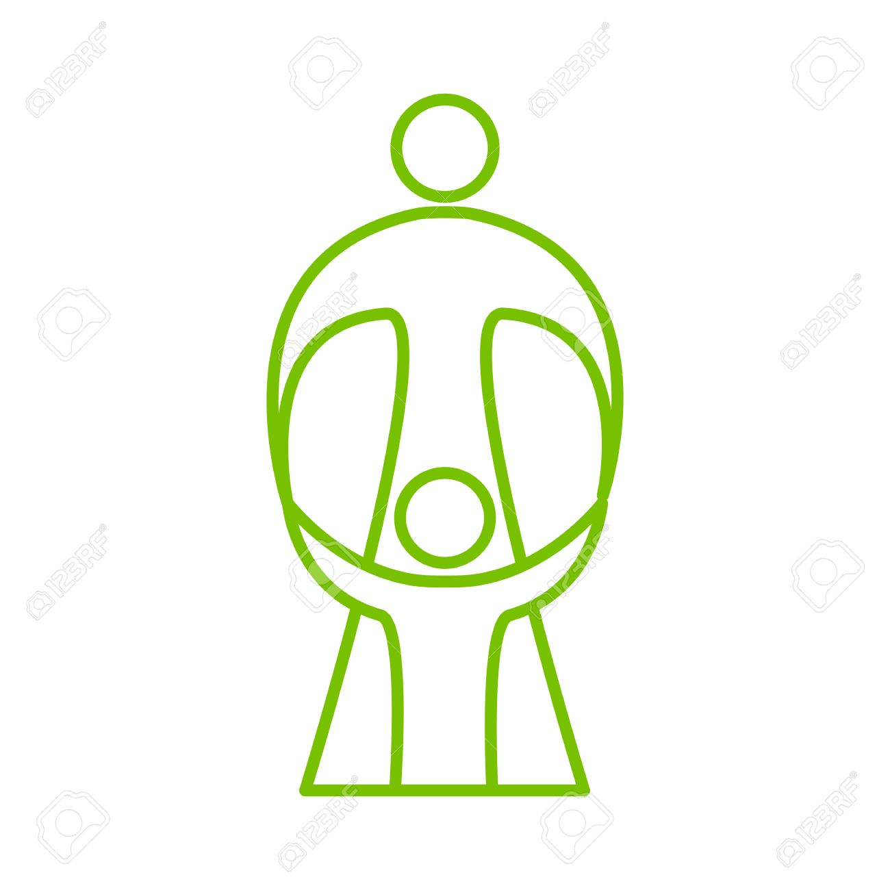 Mother Care Of Child Sign Symbol Of Love Care And Guardianship