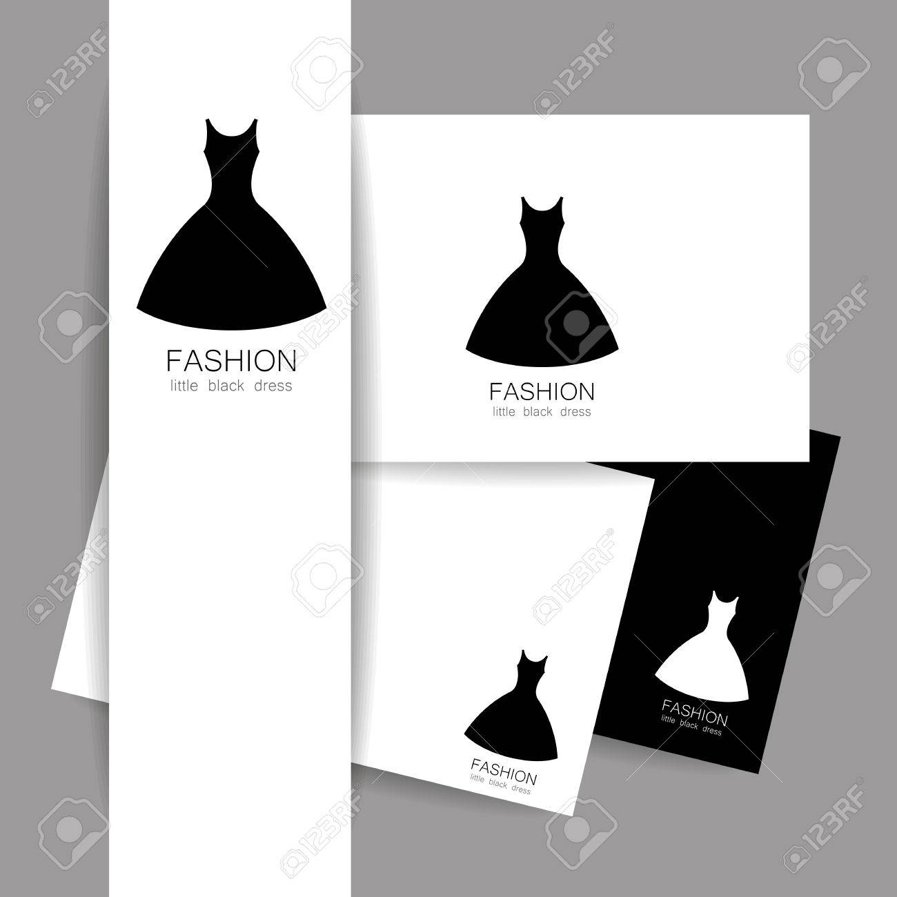Fashion Logo Template. Concept Identity Presentation Design For ...