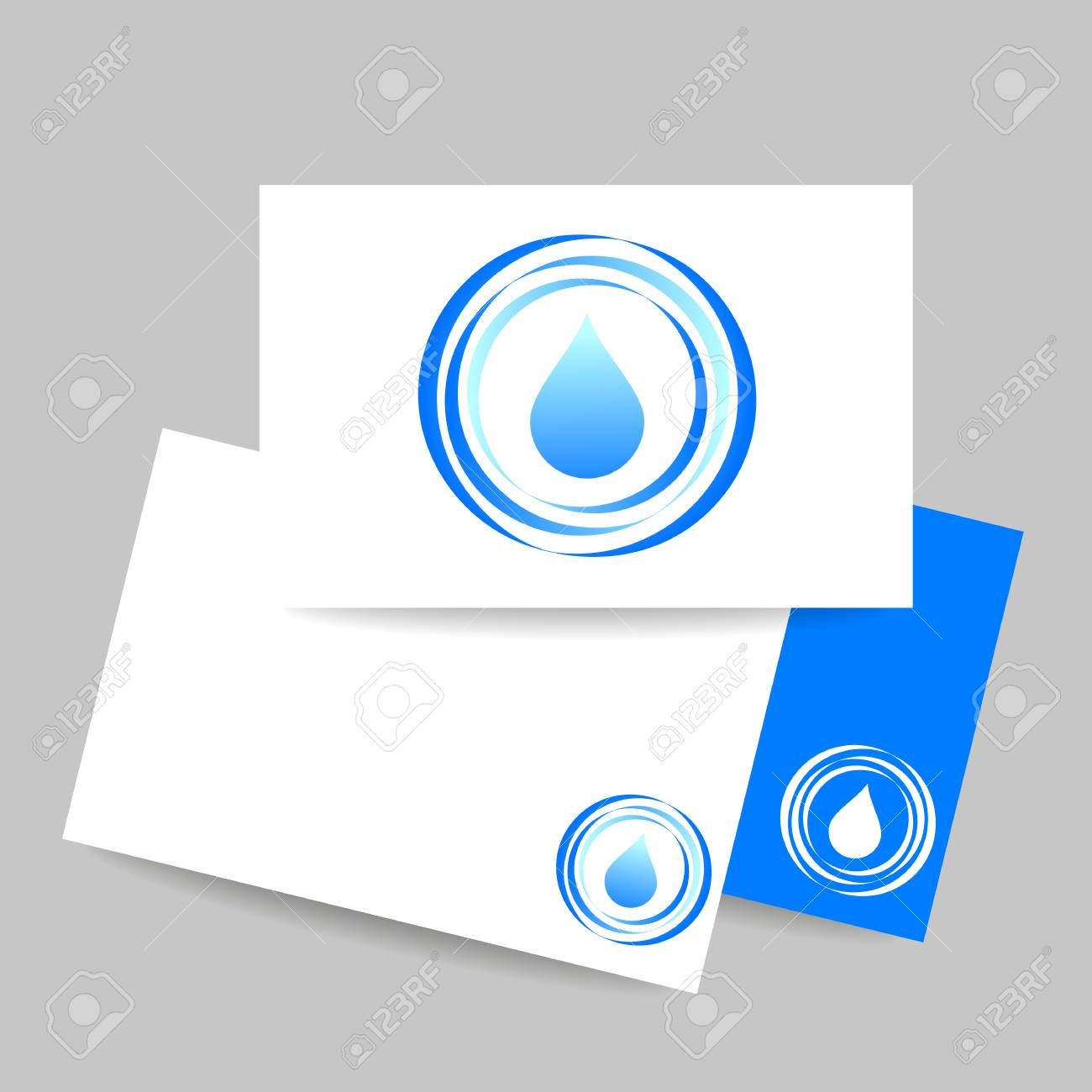 Aqua Water Drop. Concept Business Card Design For Mineral Water ...
